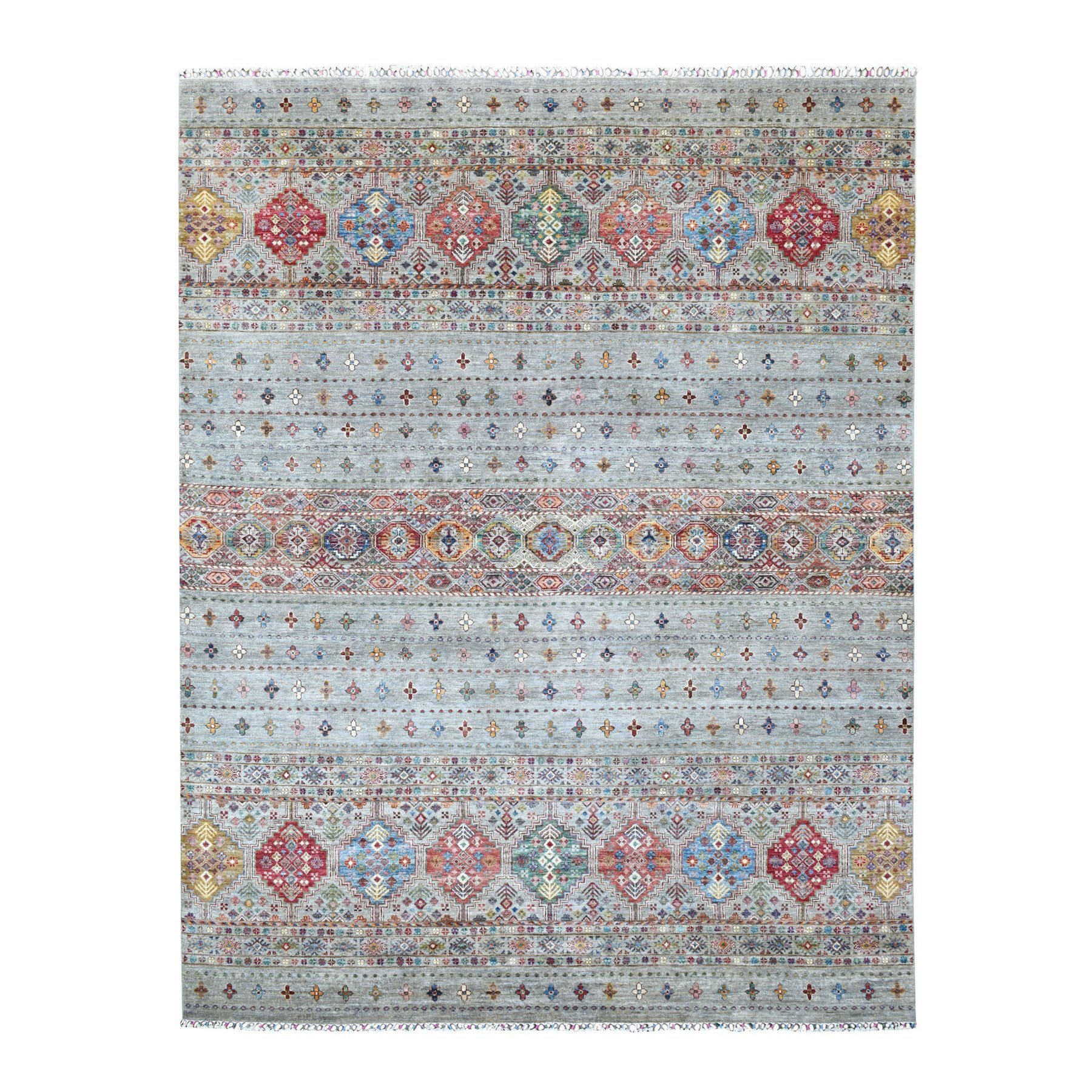 Caucasian Collection Hand Knotted Grey Rug No: 1135518