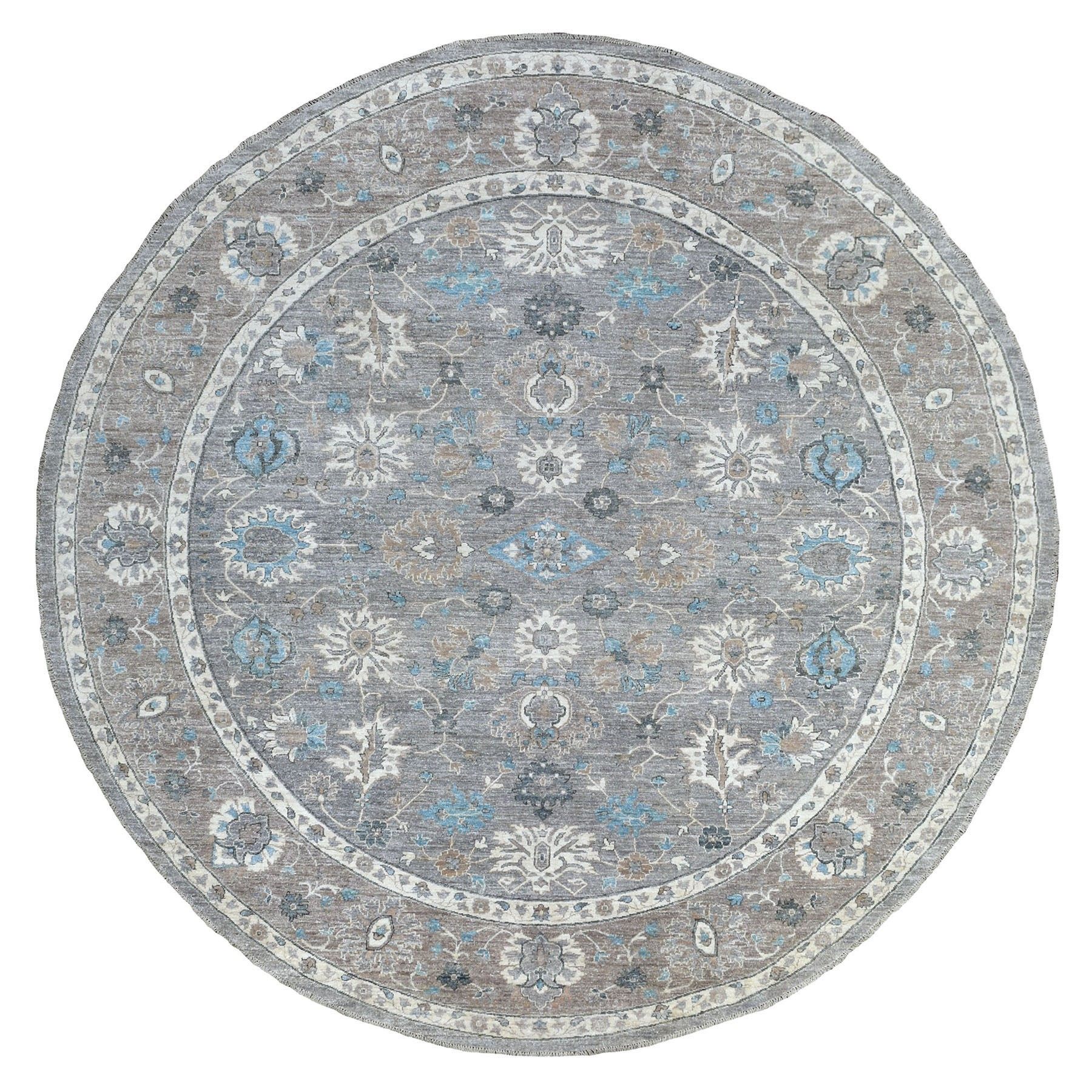 Agra And Turkish Collection Hand Knotted Grey Rug No: 1135584