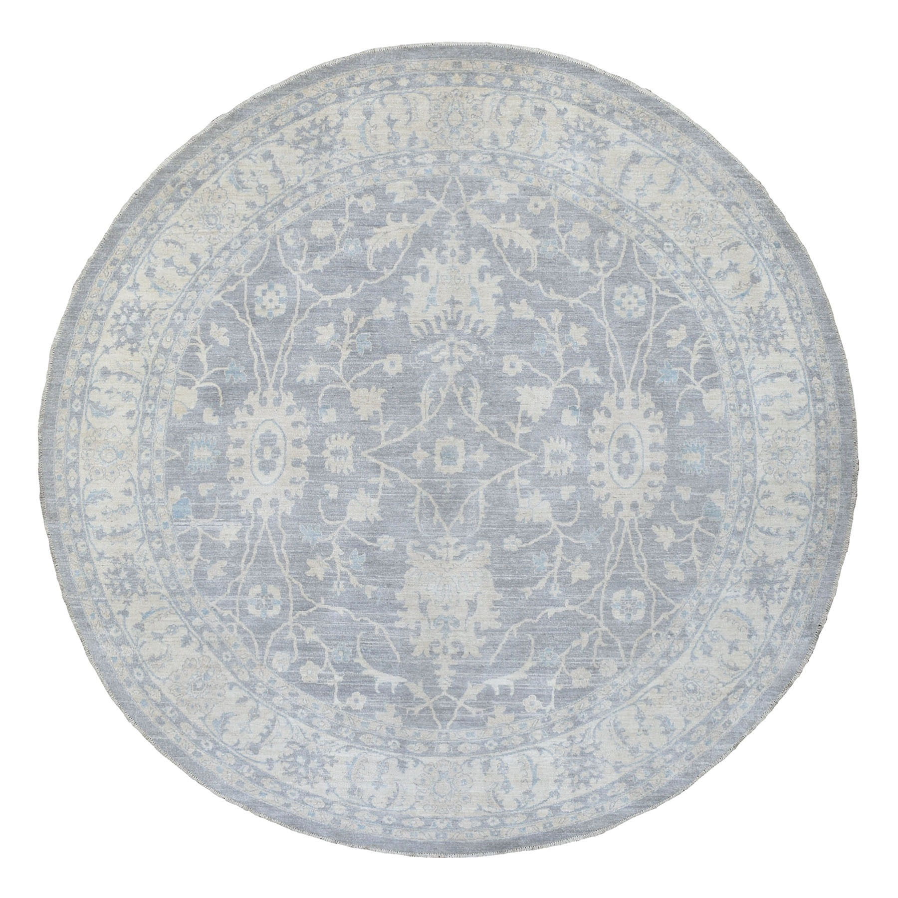 Agra And Turkish Collection Hand Knotted Grey Rug No: 1135764