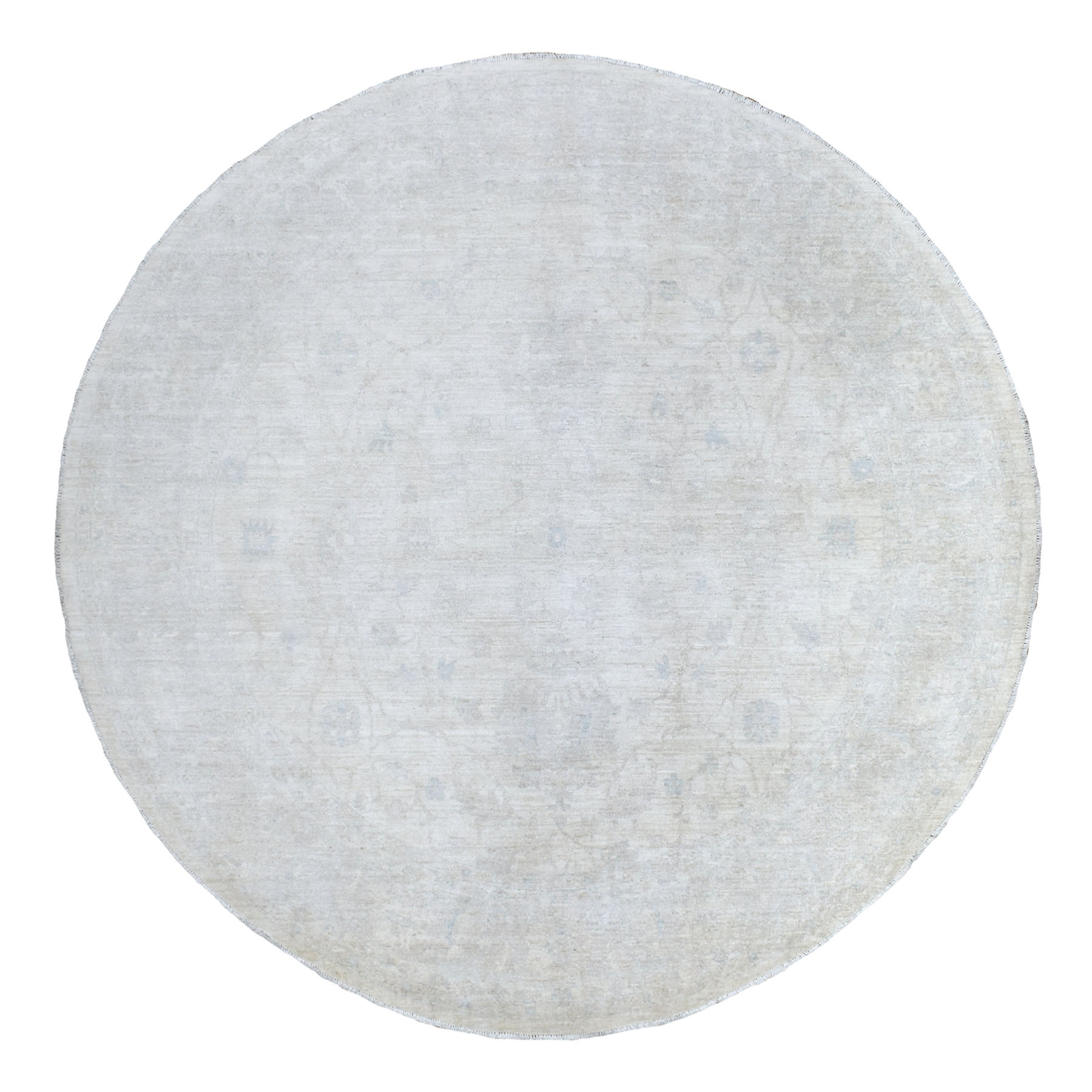 Agra And Turkish Collection Hand Knotted Ivory Rug No: 1135770