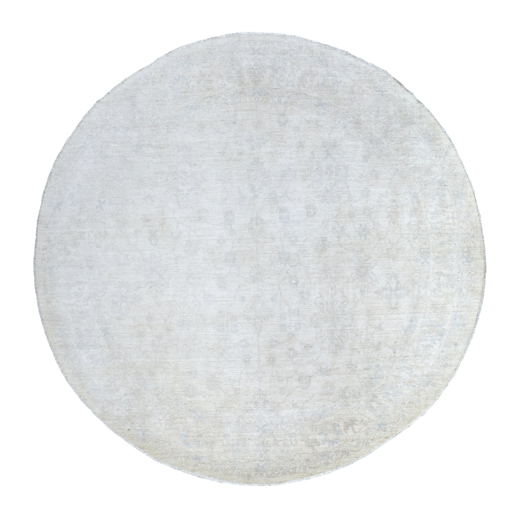 Agra And Turkish Collection Hand Knotted Ivory Rug No: 1135836