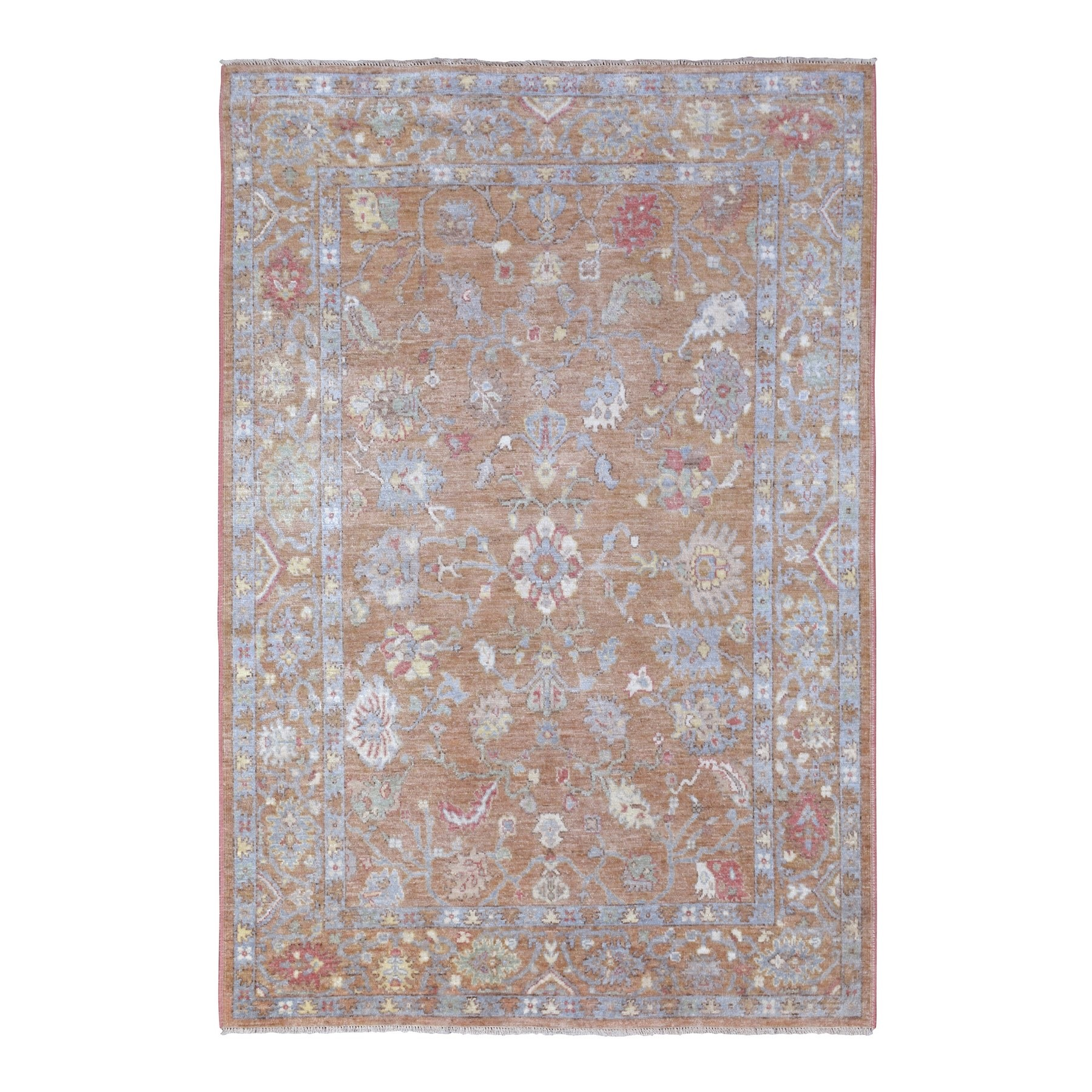 Agra And Turkish Collection Hand Knotted Brown Rug No: 1135894