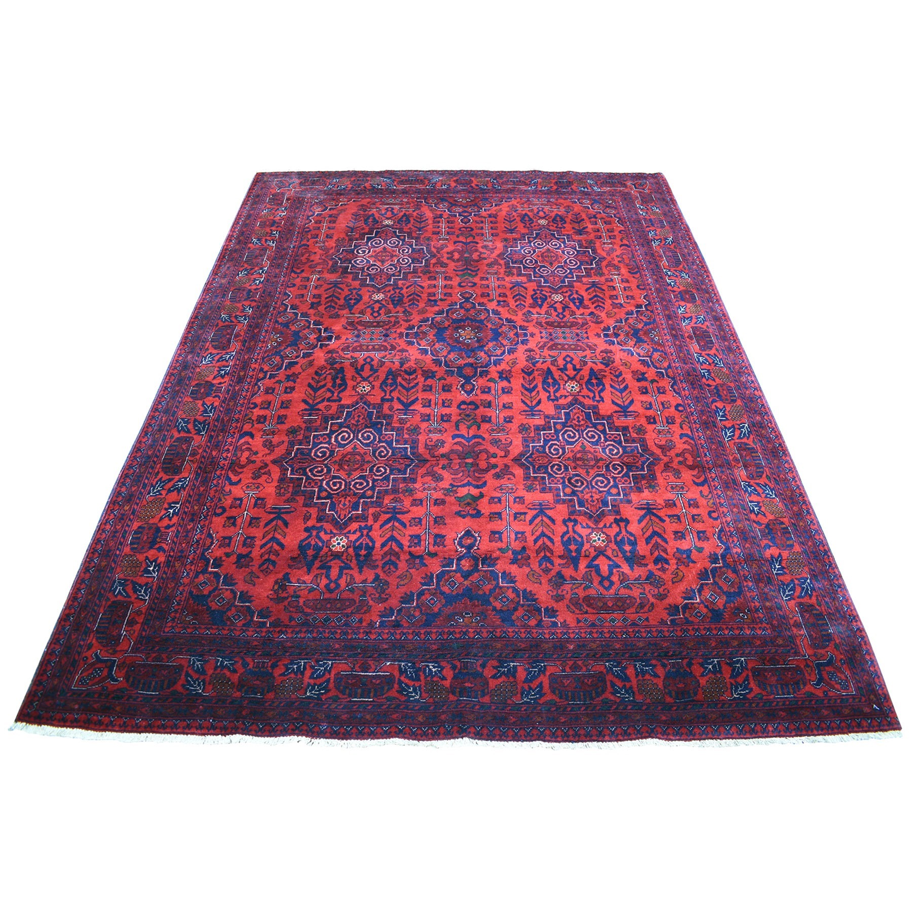 Nomadic And Village Collection Hand Knotted Red Rug No: 1135930