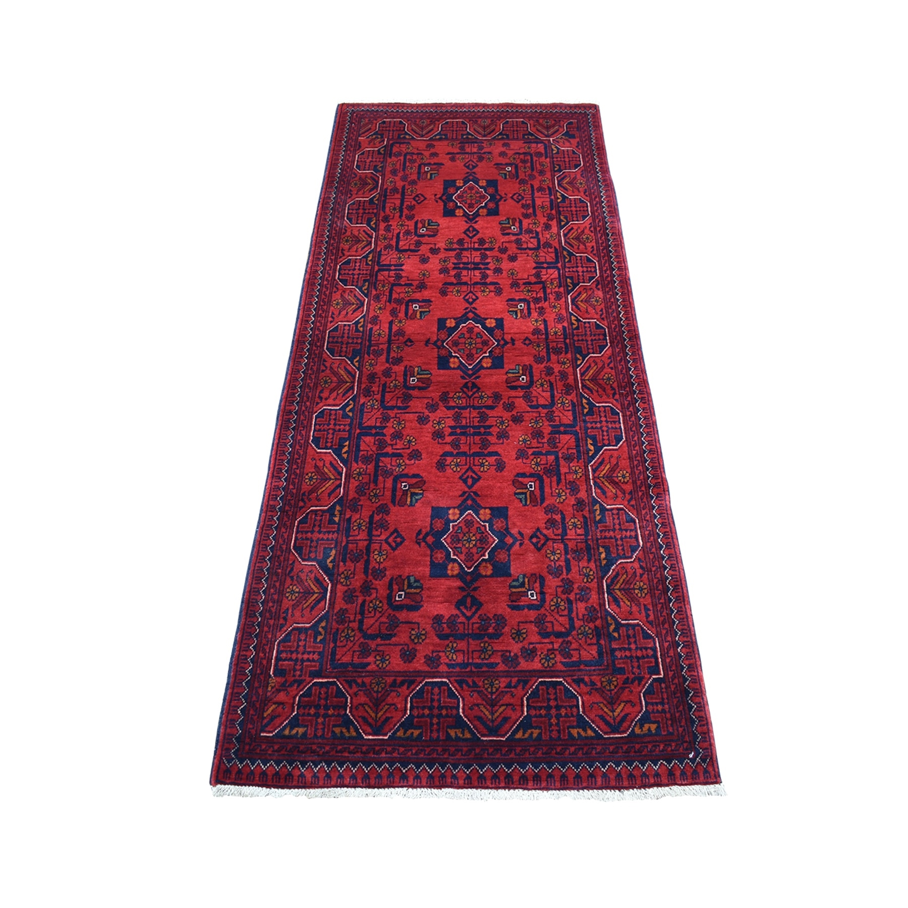 Nomadic And Village Collection Hand Knotted Red Rug No: 1135938