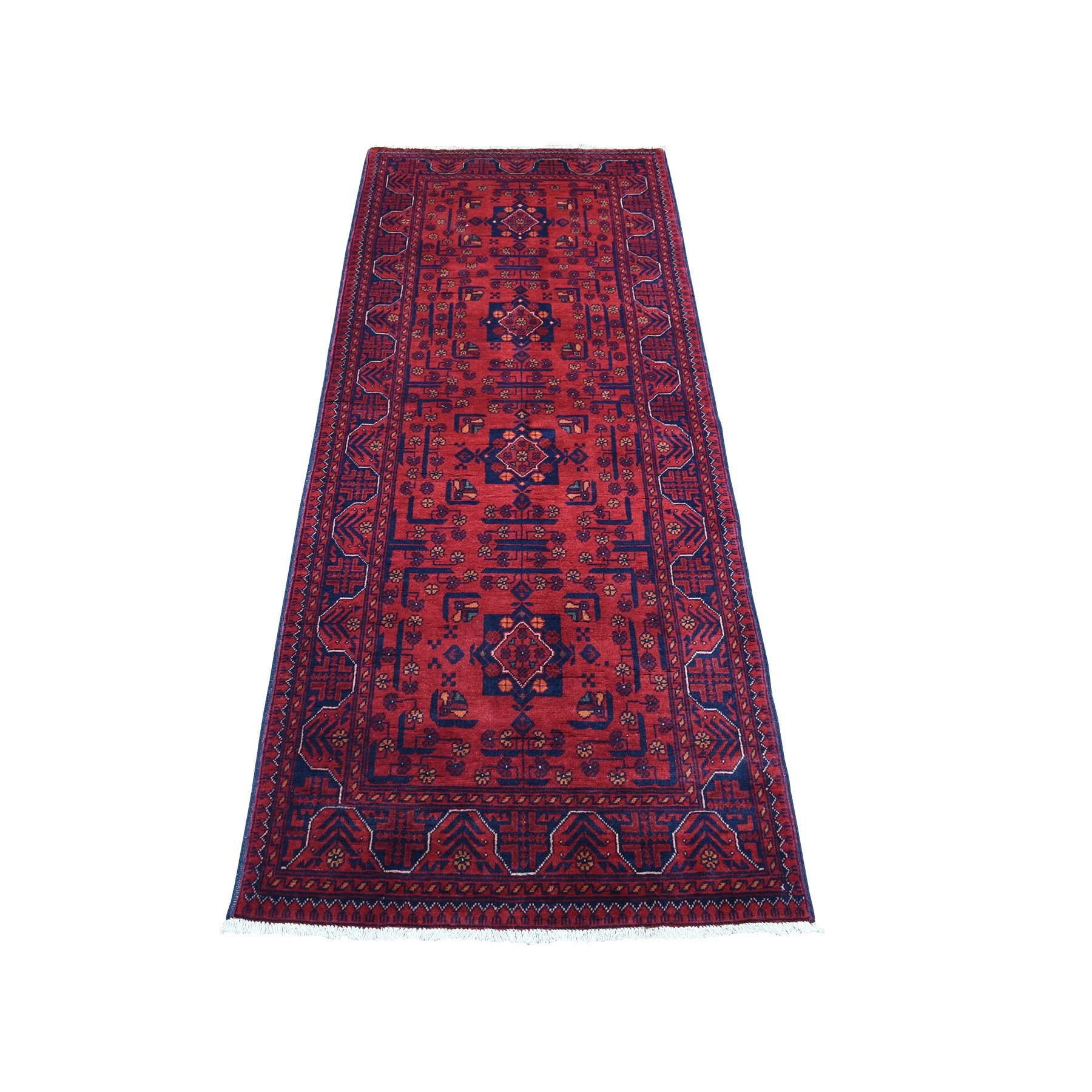 Nomadic And Village Collection Hand Knotted Red Rug No: 1135940