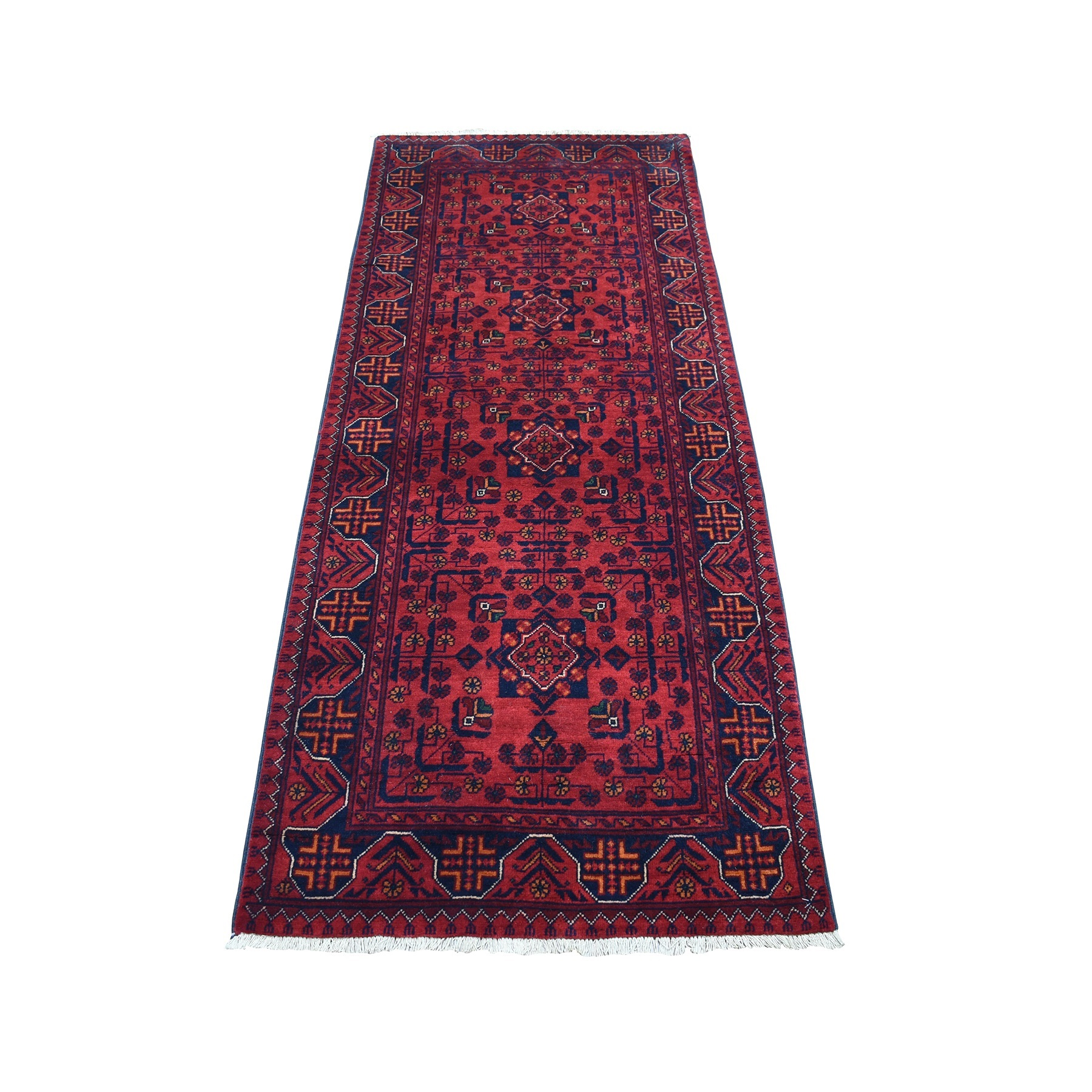 Nomadic And Village Collection Hand Knotted Red Rug No: 1135944