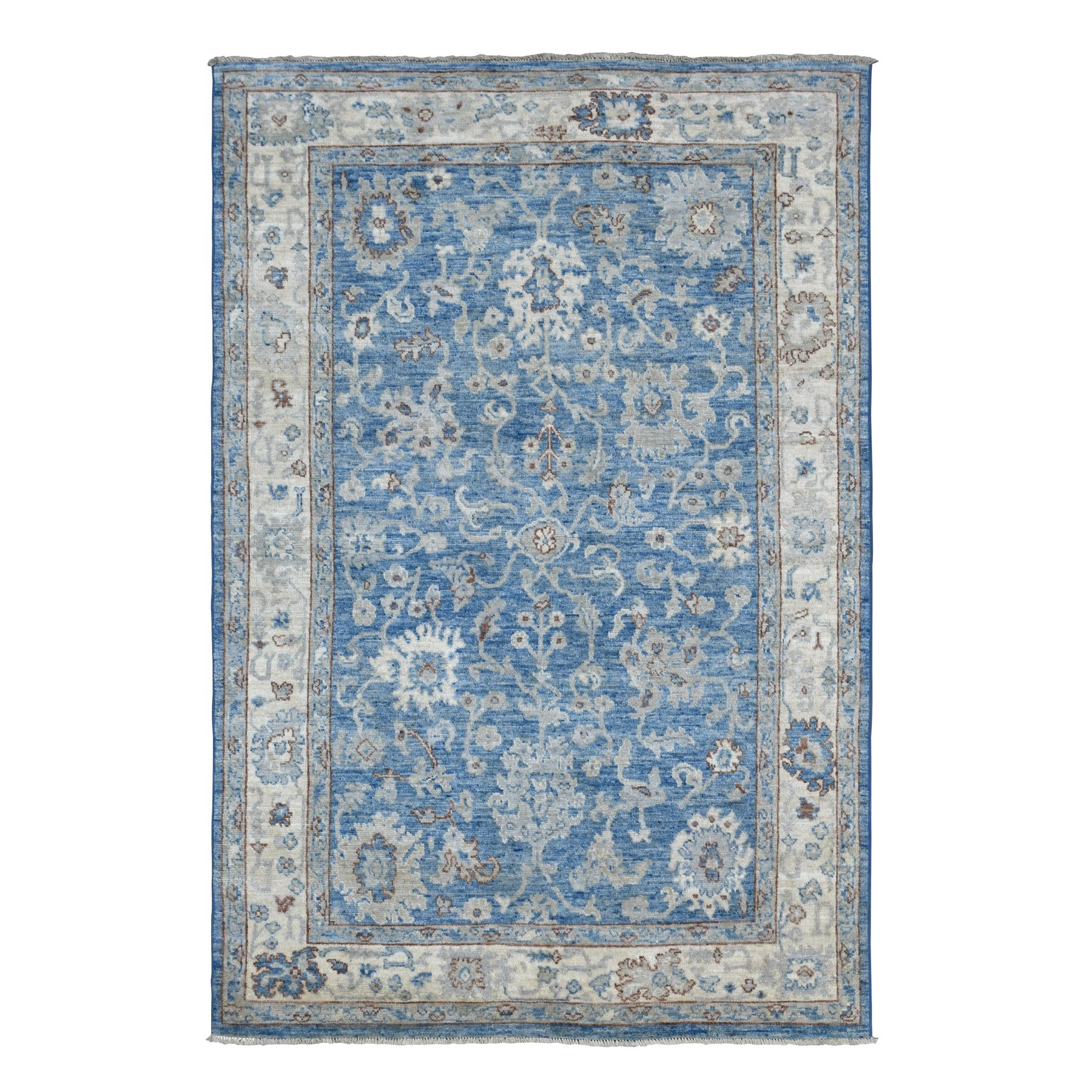 Agra And Turkish Collection Hand Knotted Blue Rug No: 1135970
