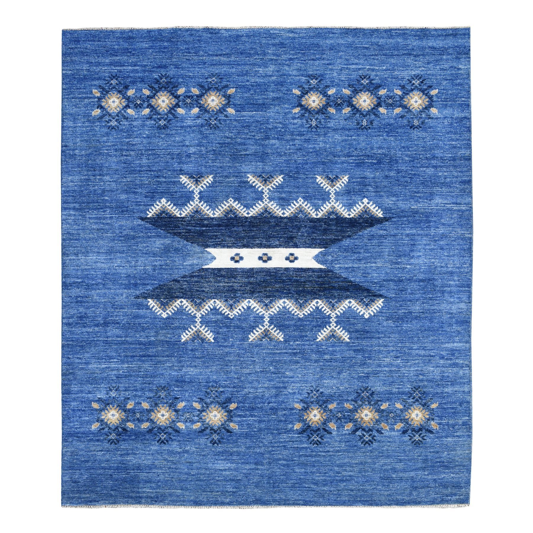 Nomadic And Village Collection Hand Knotted Blue Rug No: 1135994