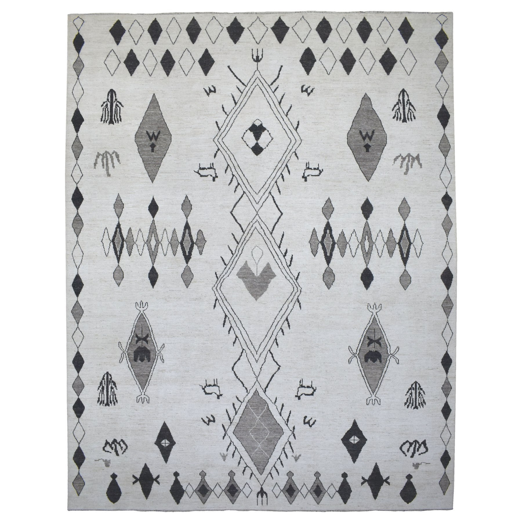 Nomadic And Village Collection Hand Knotted Ivory Rug No: 1136016