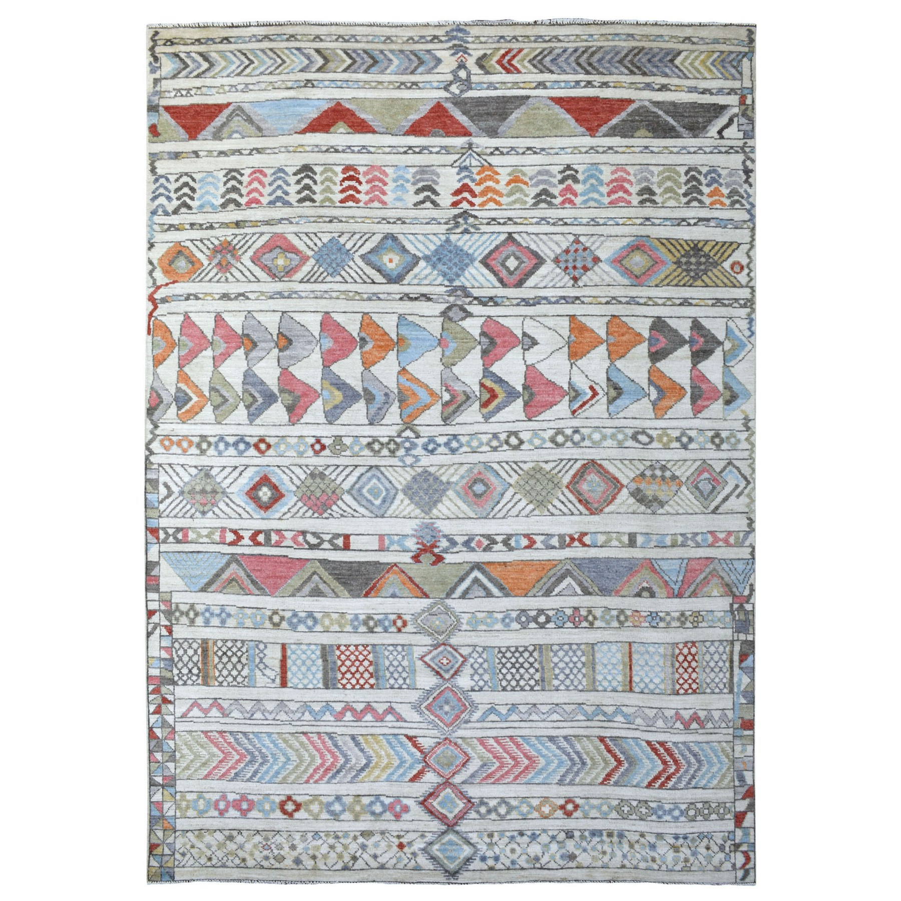 Nomadic And Village Collection Hand Knotted Ivory Rug No: 1136020