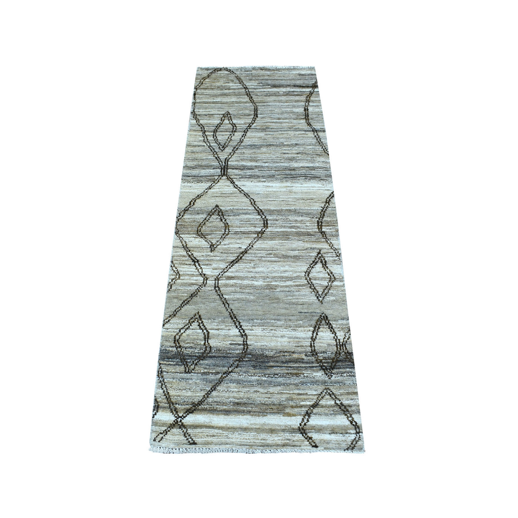 Nomadic And Village Collection Hand Knotted Ivory Rug No: 1136030