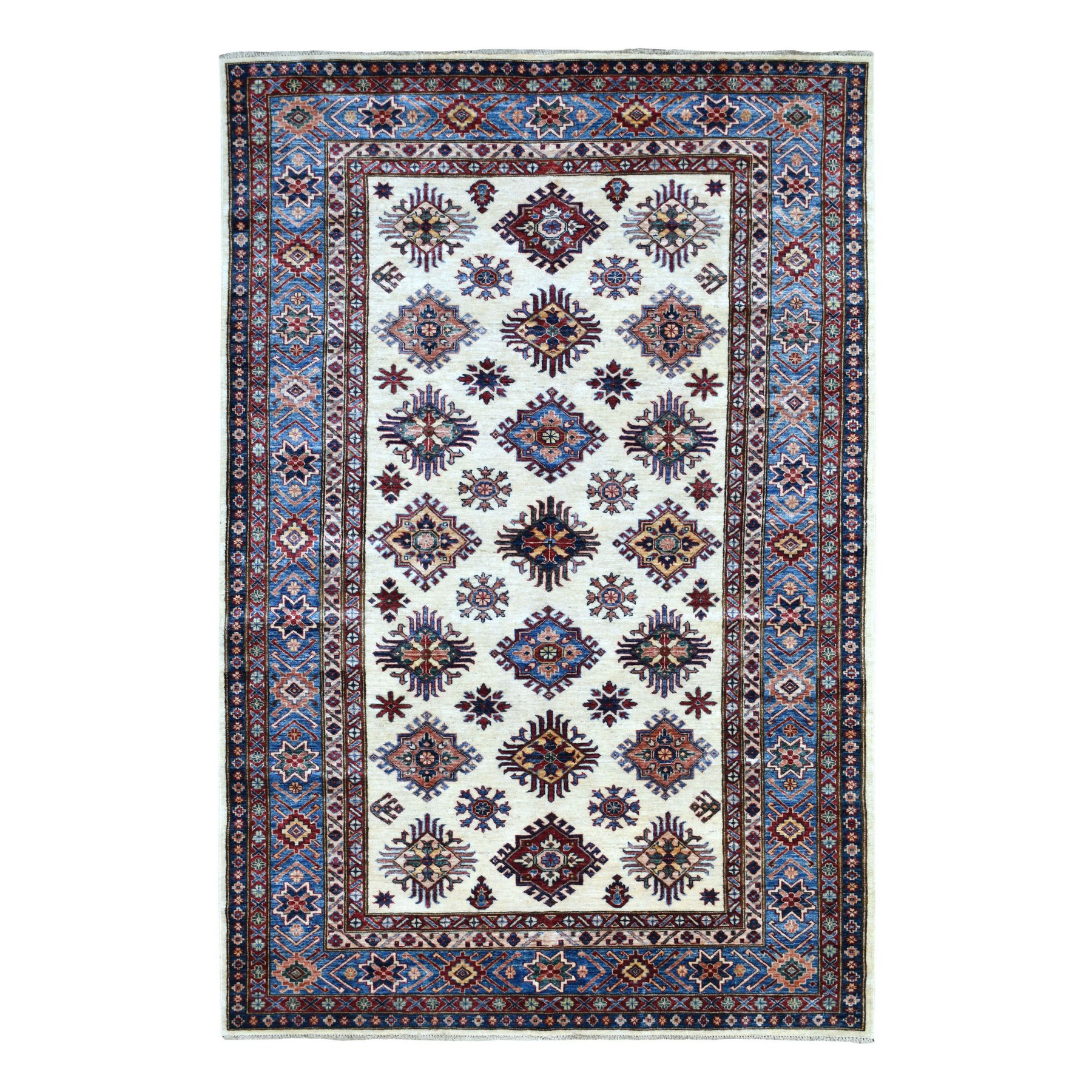 Caucasian Collection Hand Knotted Ivory Rug No: 1136038
