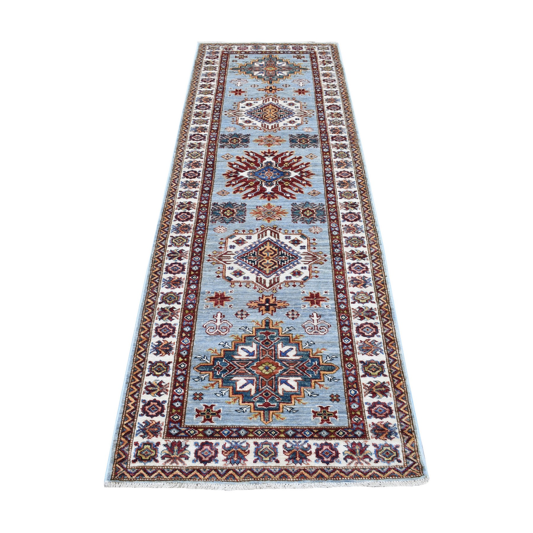 Caucasian Collection Hand Knotted Grey Rug No: 1136064