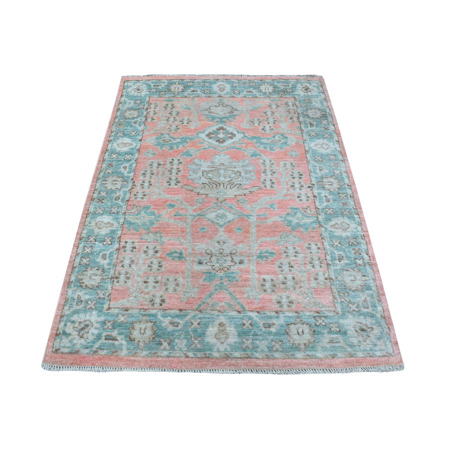 Agra And Turkish Collection Hand Knotted Pink Rug No: 1136072