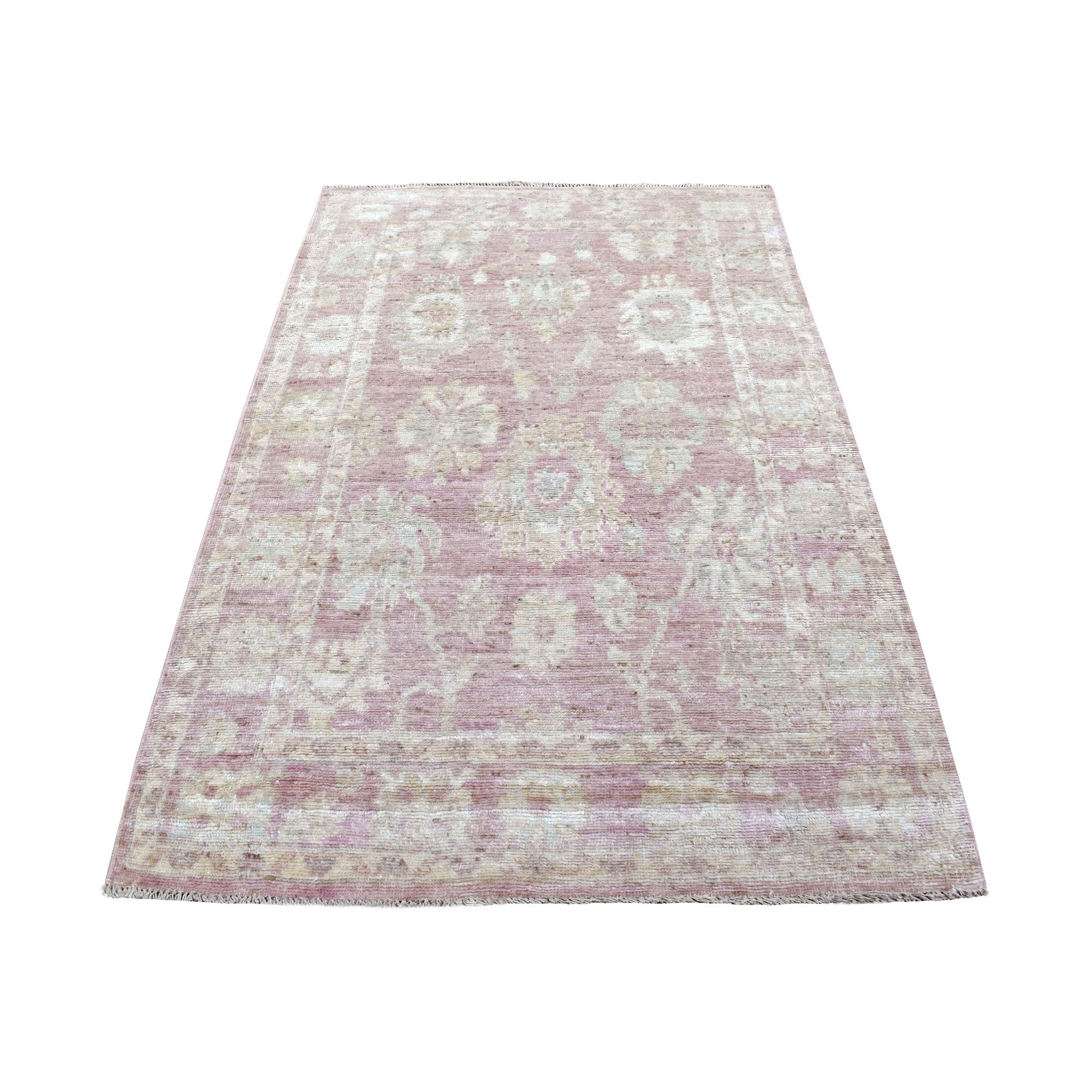 Agra And Turkish Collection Hand Knotted Pink Rug No: 1136080
