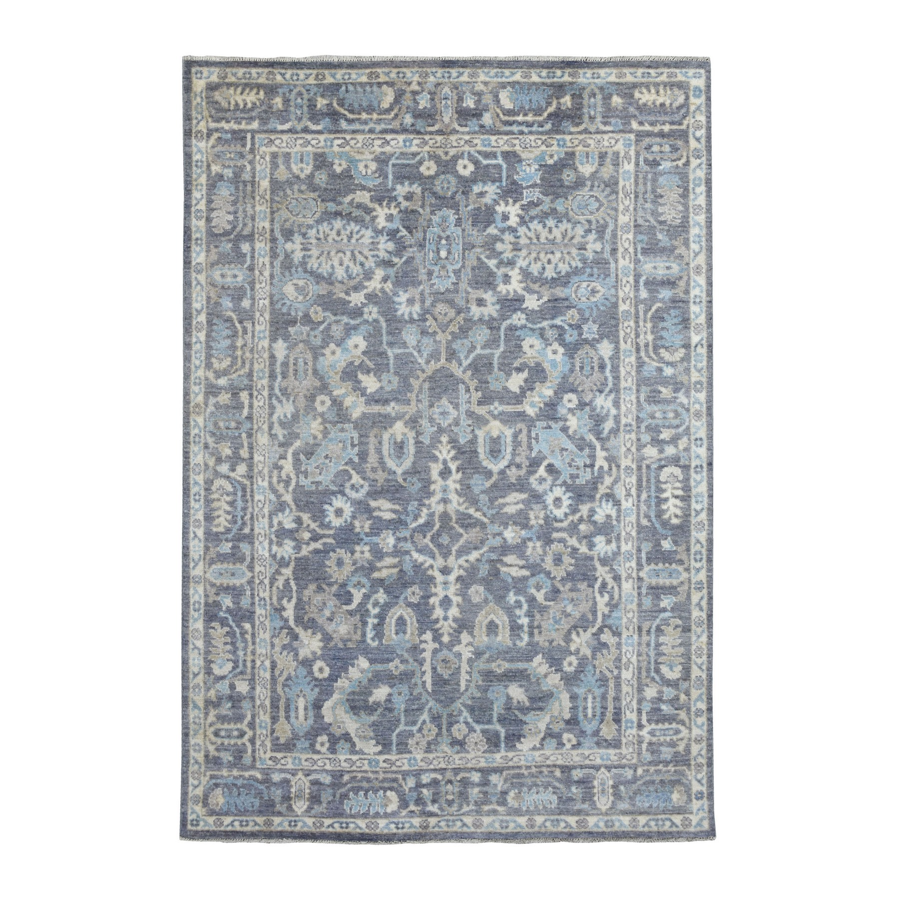 Agra And Turkish Collection Hand Knotted Grey Rug No: 1136084