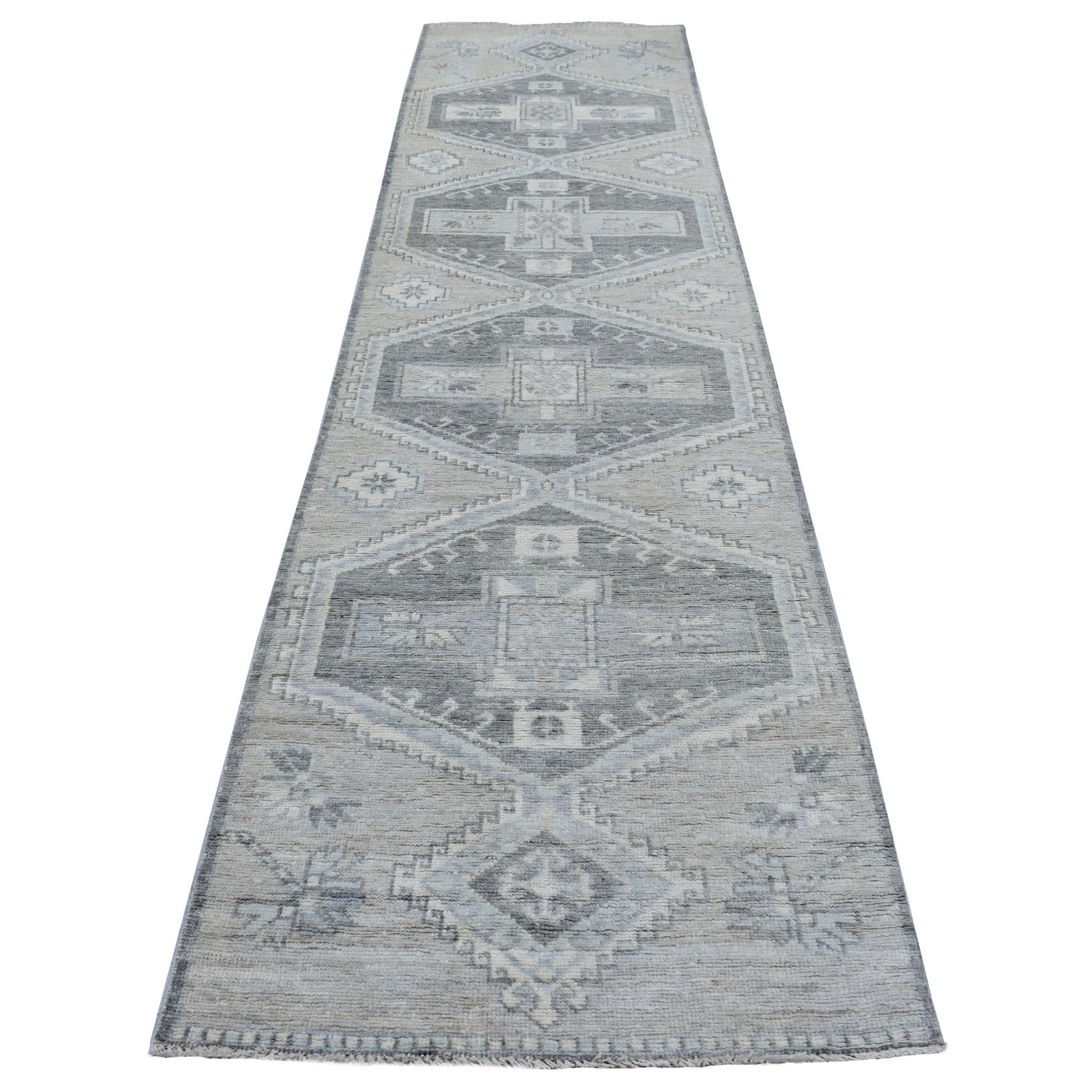 Nomadic And Village Collection Hand Knotted Grey Rug No: 1136088