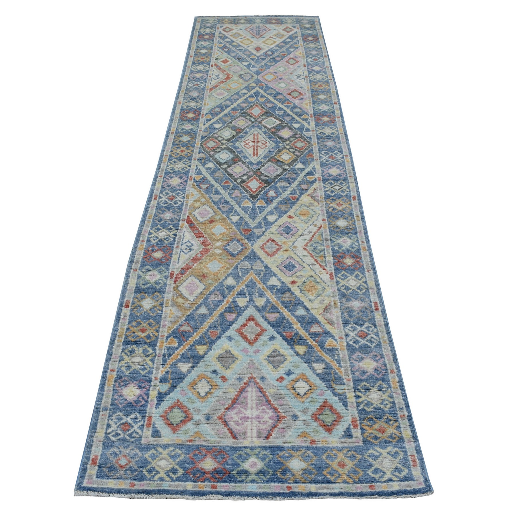 Nomadic And Village Collection Hand Knotted Blue Rug No: 1136090