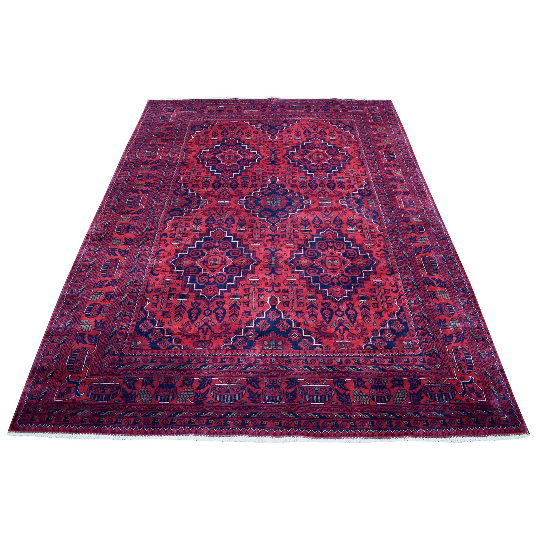 Nomadic And Village Collection Hand Knotted Red Rug No: 1136120