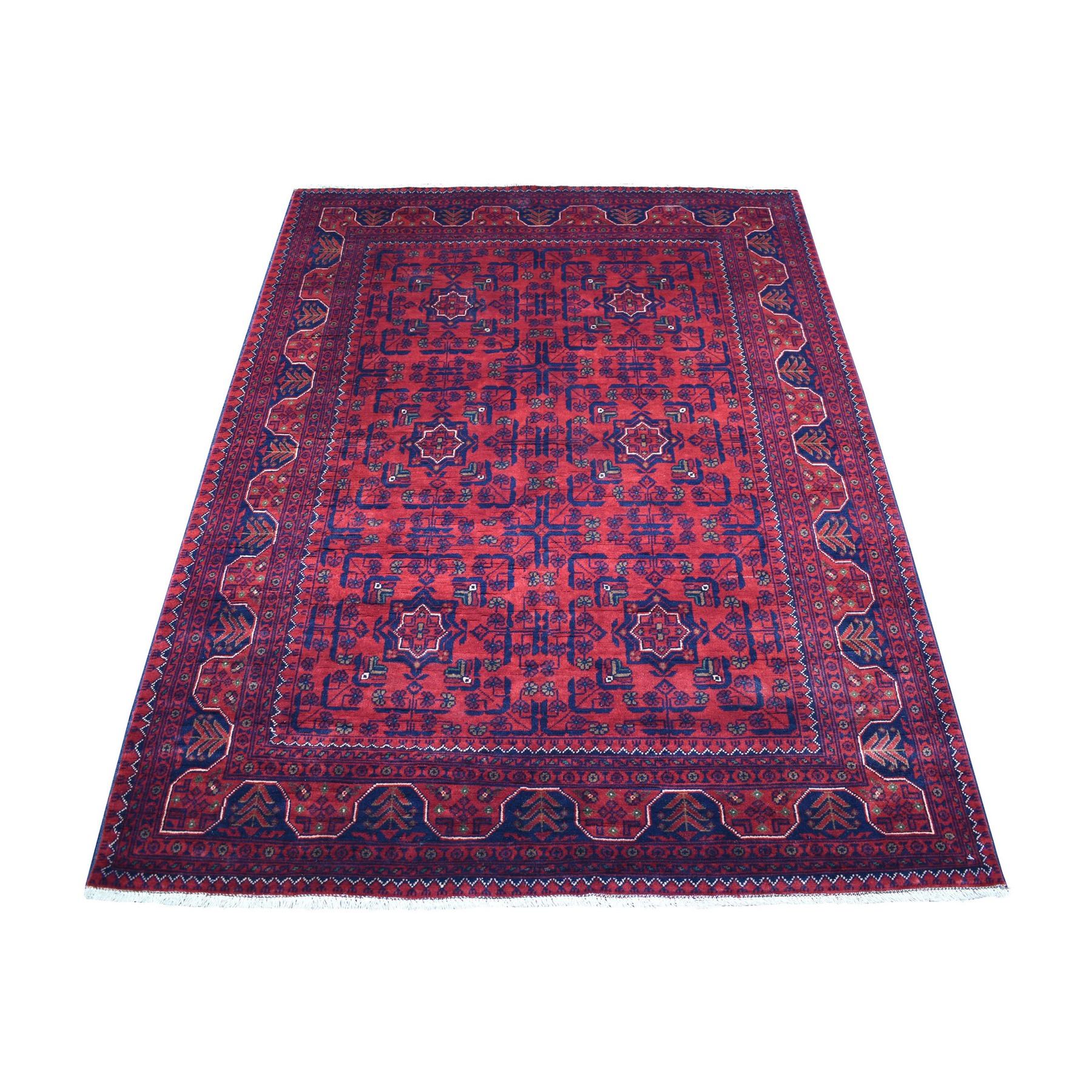 Nomadic And Village Collection Hand Knotted Red Rug No: 1136144