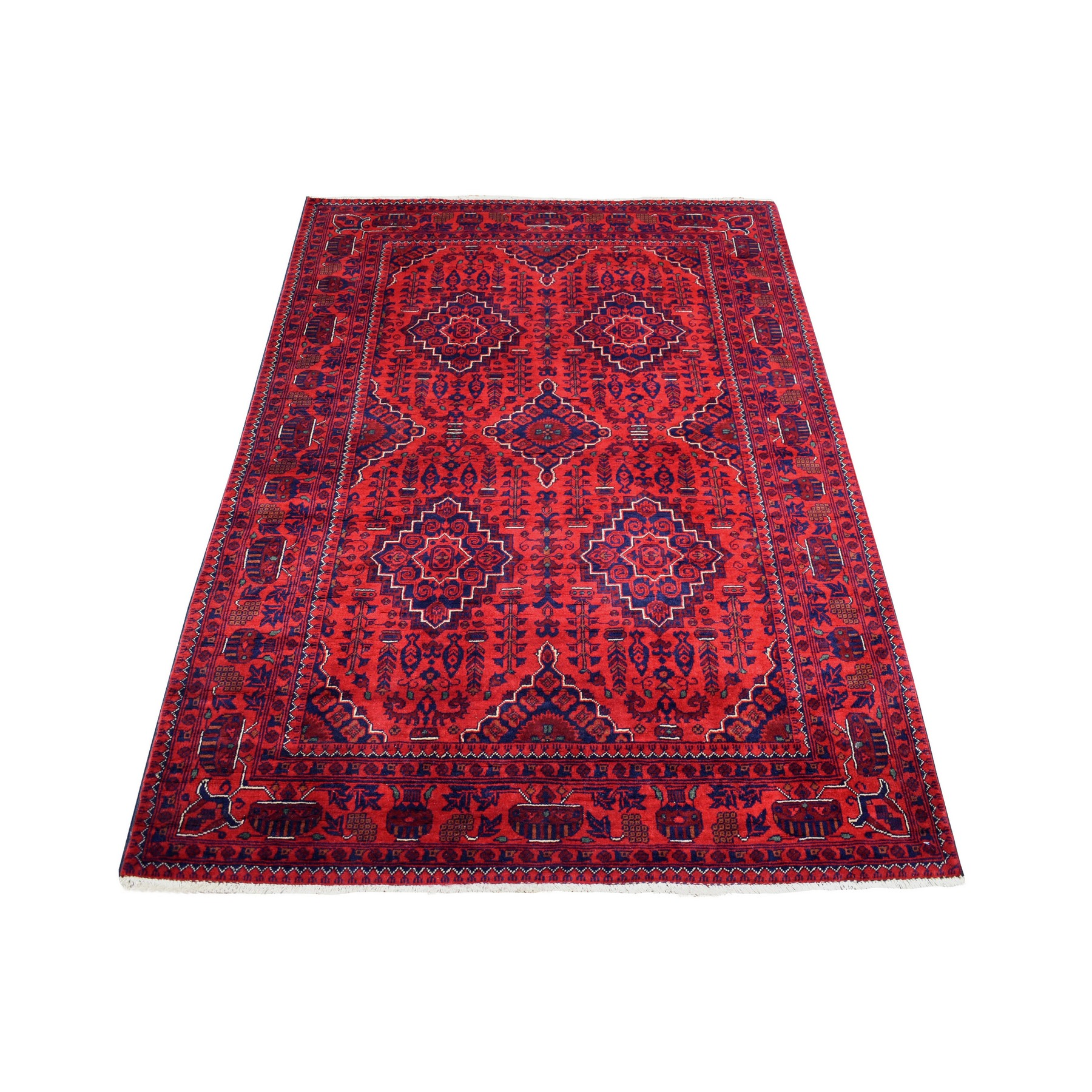 Nomadic And Village Collection Hand Knotted Red Rug No: 1136146