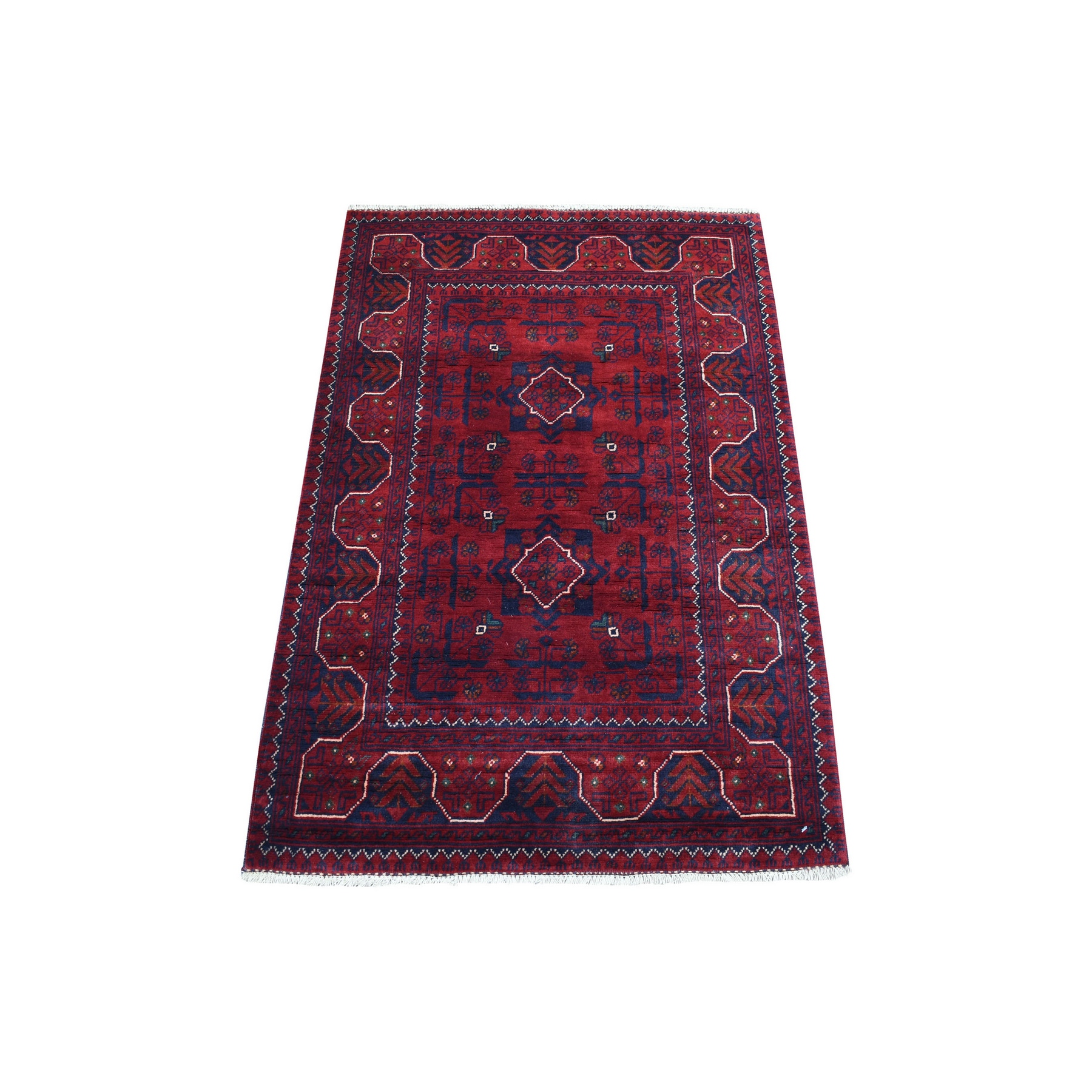 Nomadic And Village Collection Hand Knotted Red Rug No: 1136162