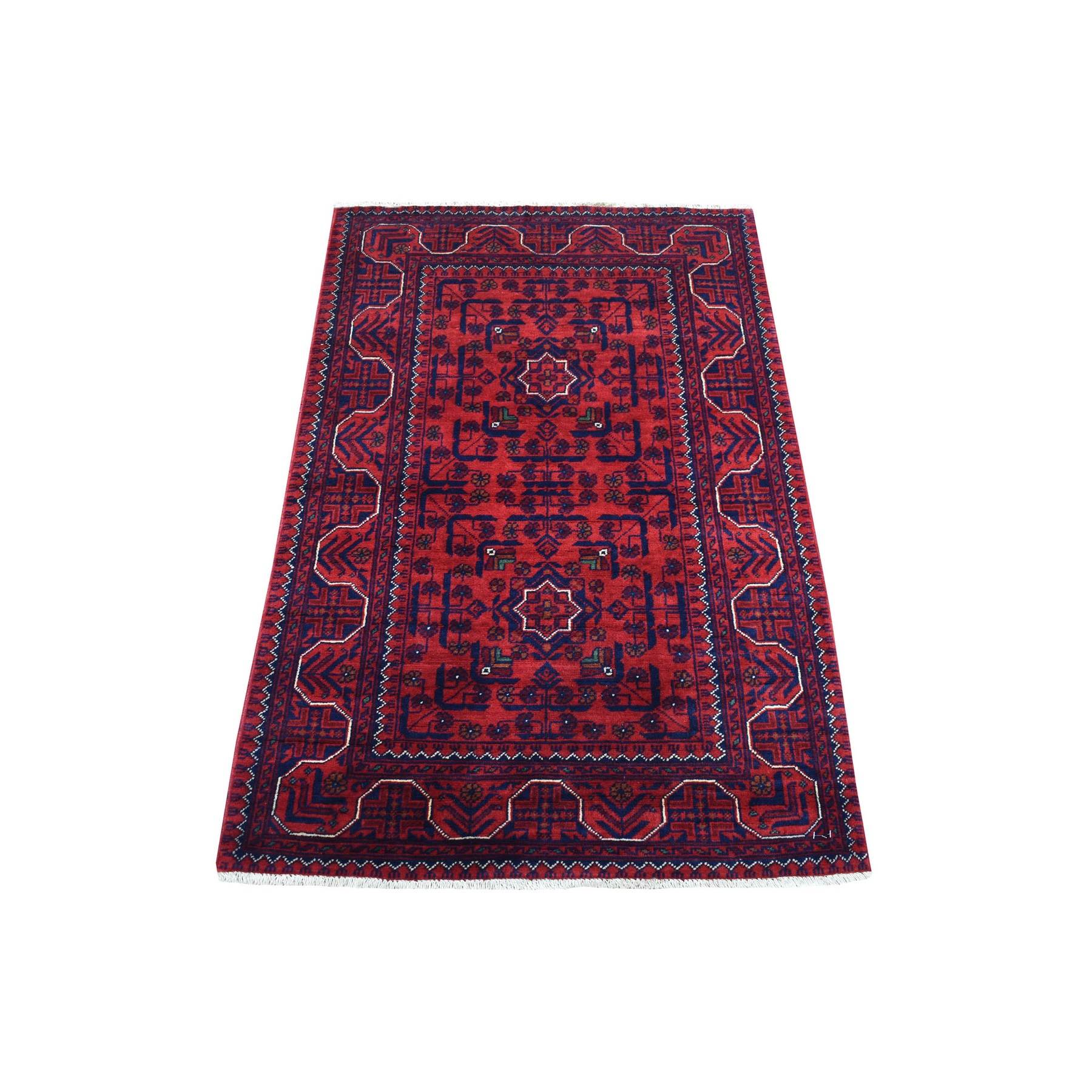Nomadic And Village Collection Hand Knotted Red Rug No: 1136164