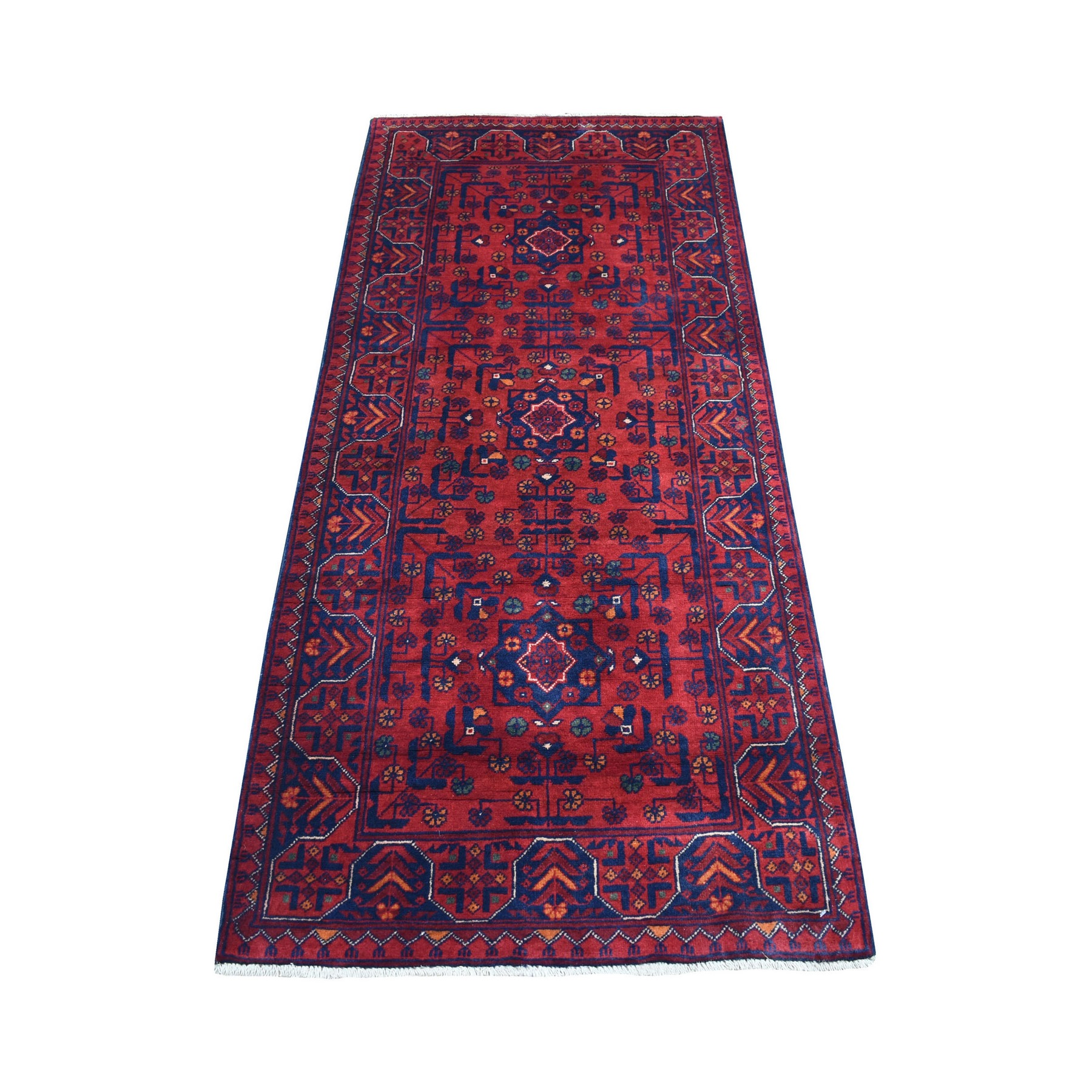 Nomadic And Village Collection Hand Knotted Red Rug No: 1136166