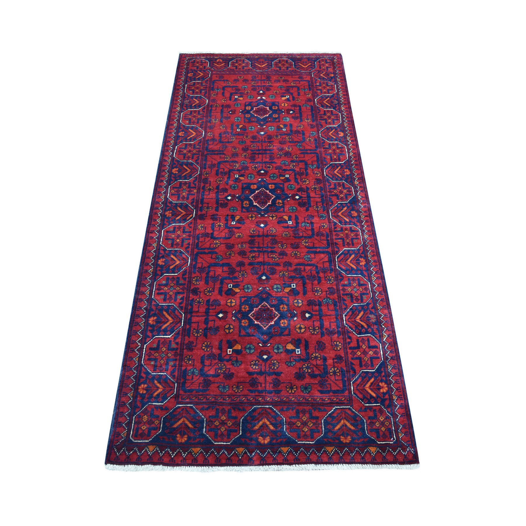 Nomadic And Village Collection Hand Knotted Red Rug No: 1136168
