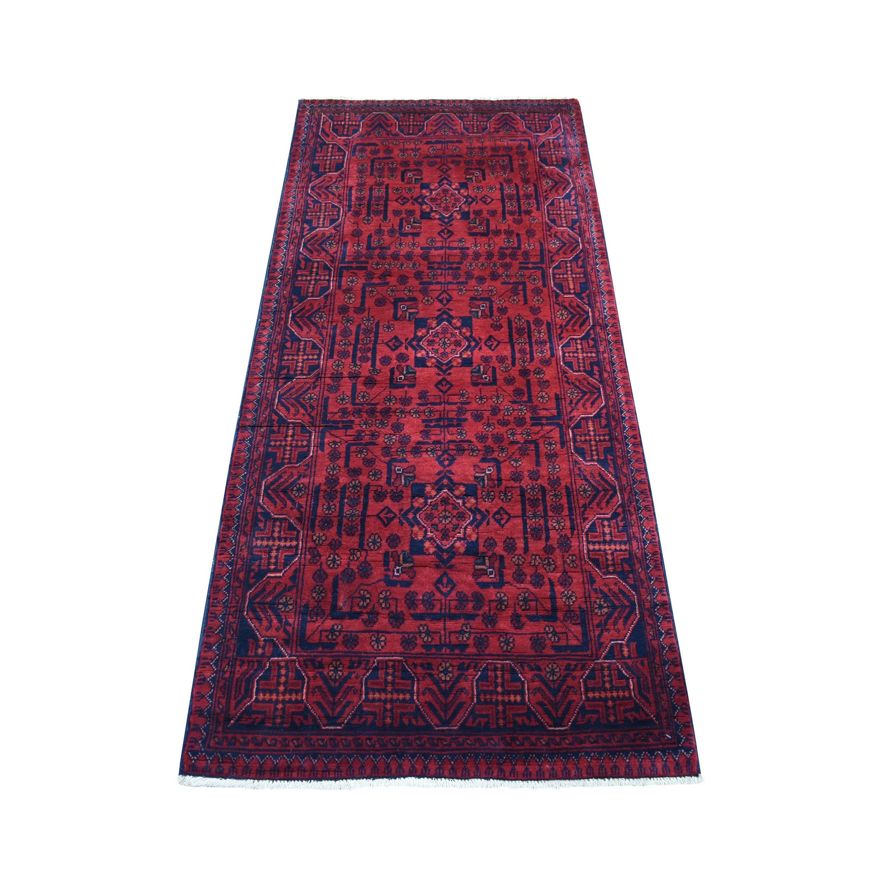 Nomadic And Village Collection Hand Knotted Red Rug No: 1136170