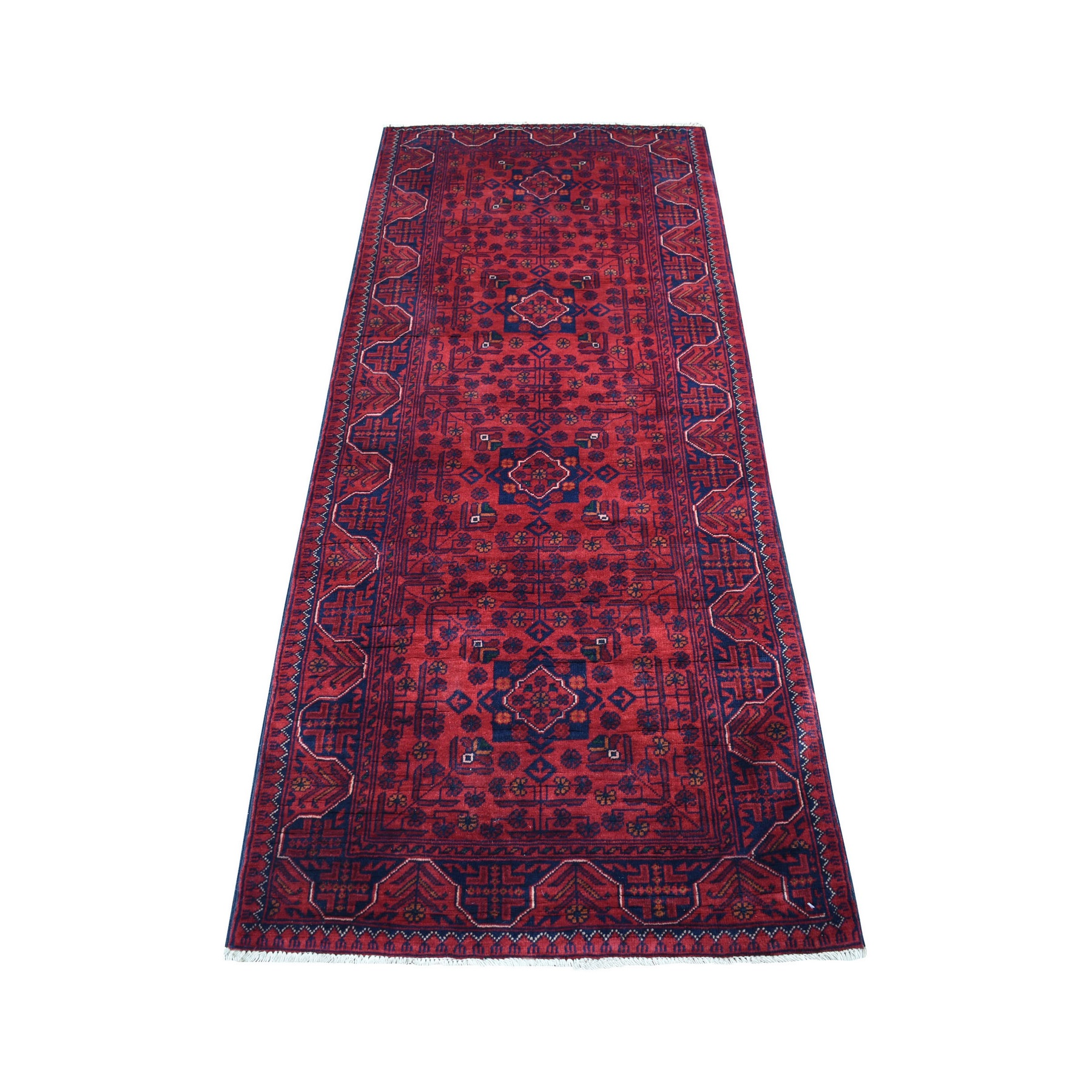 Nomadic And Village Collection Hand Knotted Red Rug No: 1136172