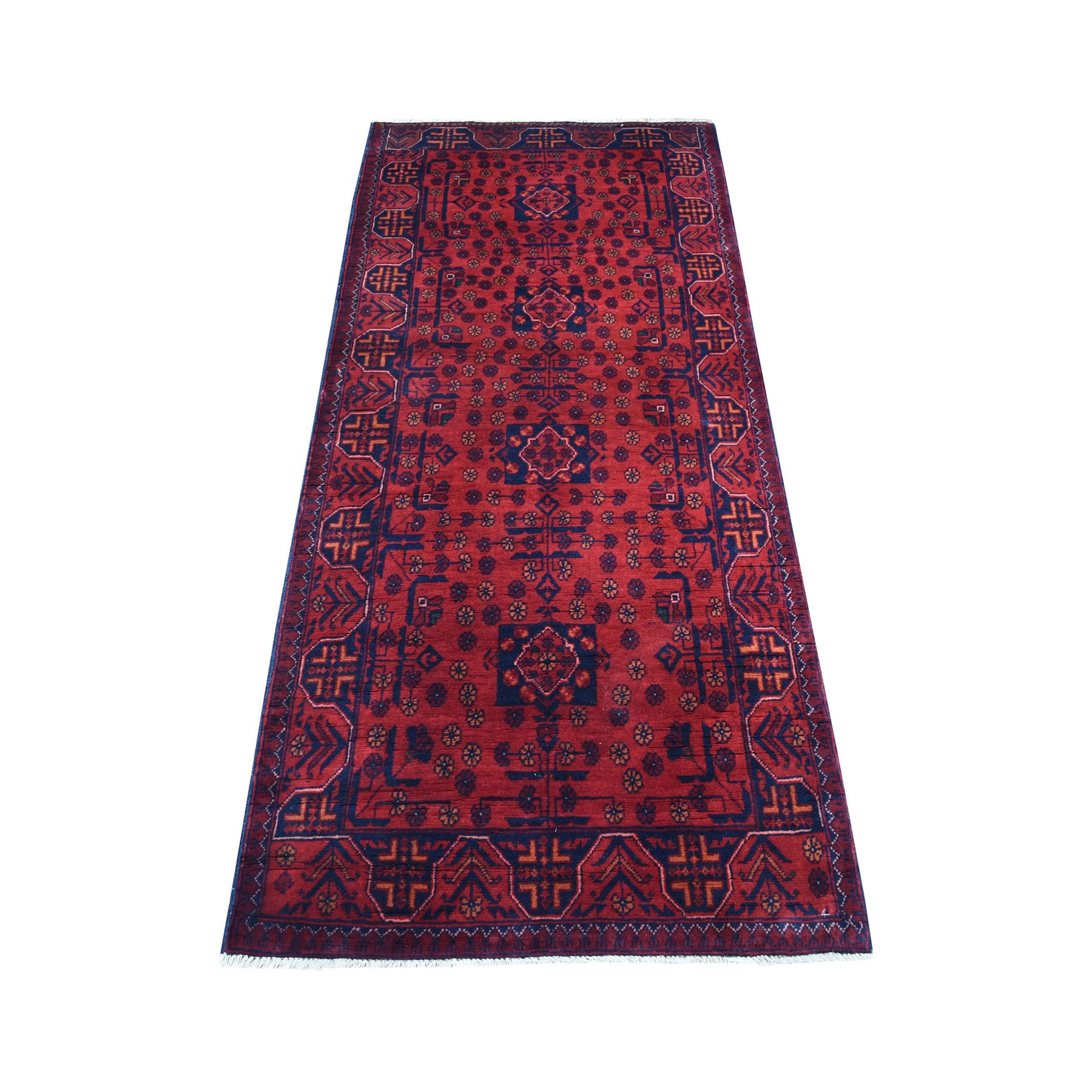 Nomadic And Village Collection Hand Knotted Red Rug No: 1136174
