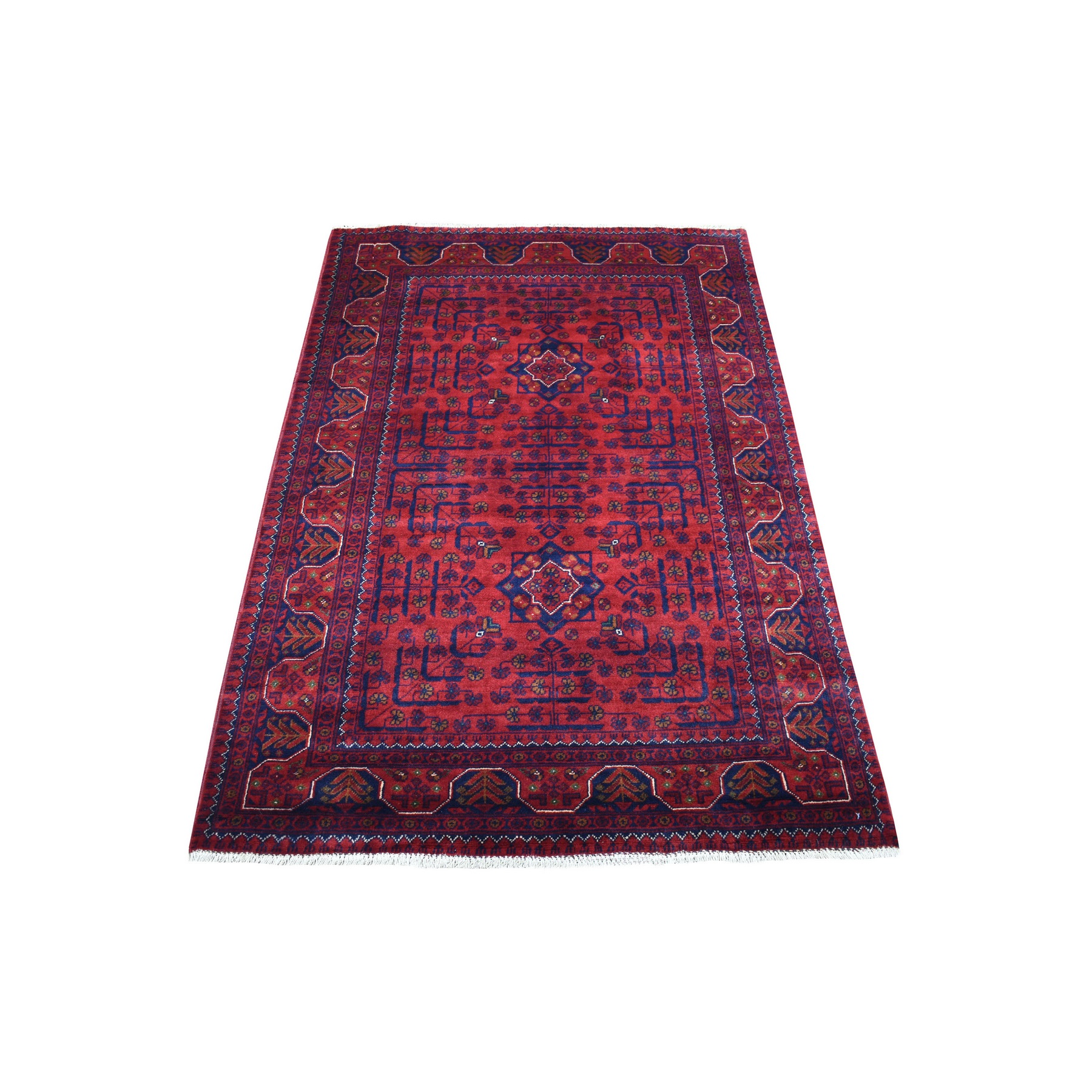 Nomadic And Village Collection Hand Knotted Red Rug No: 1136184