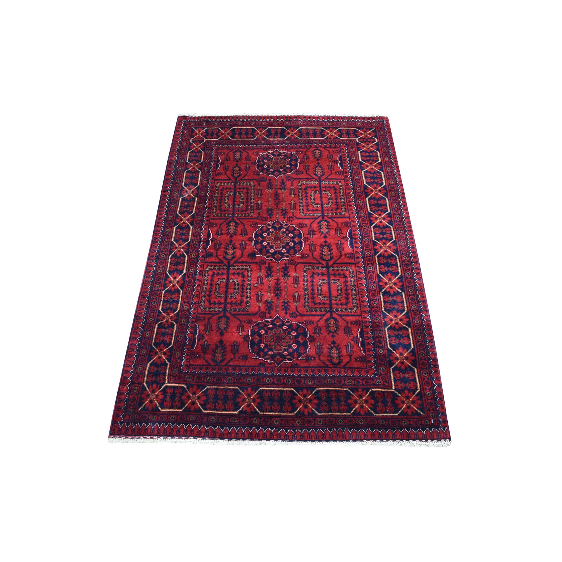 Nomadic And Village Collection Hand Knotted Red Rug No: 1136186