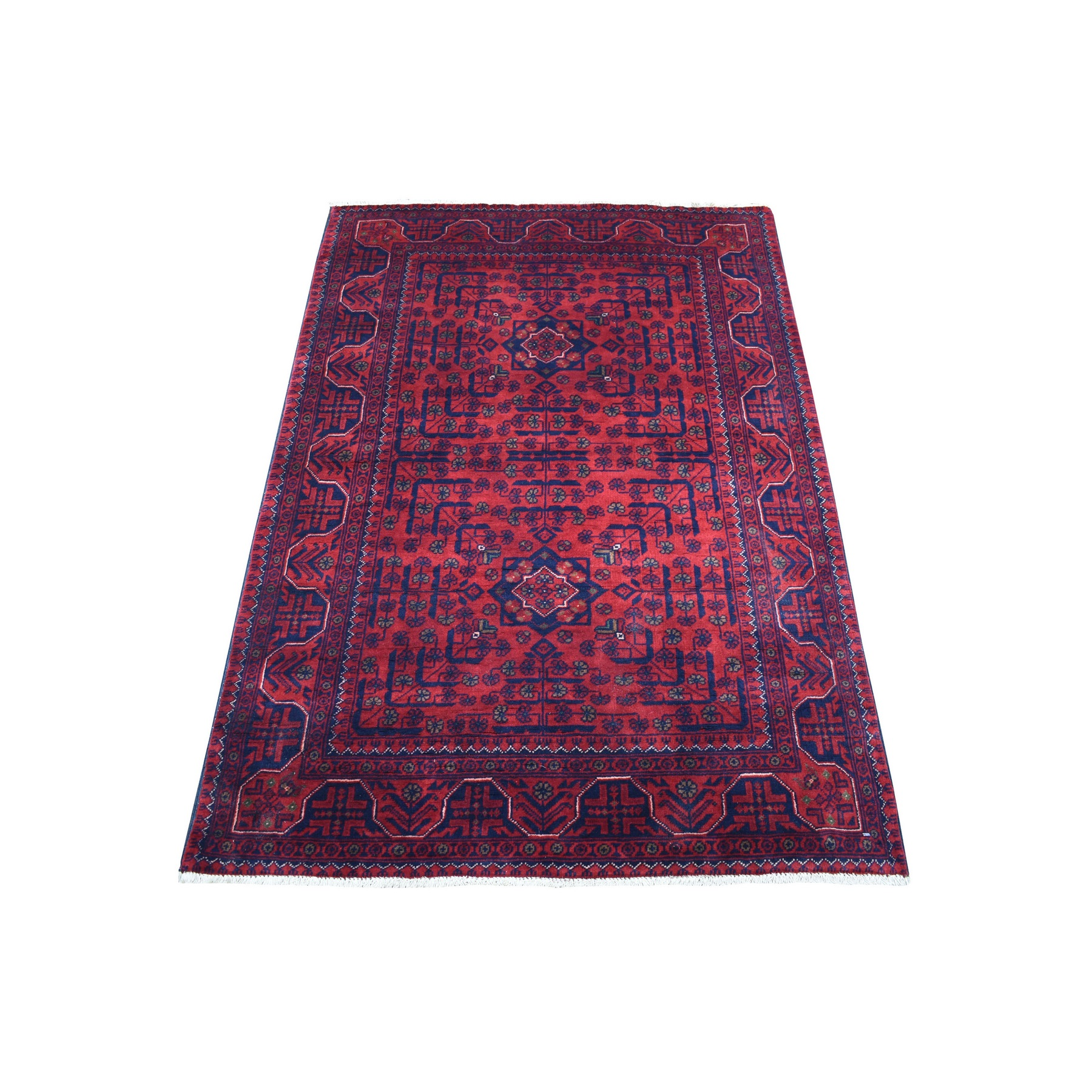 Nomadic And Village Collection Hand Knotted Red Rug No: 1136188