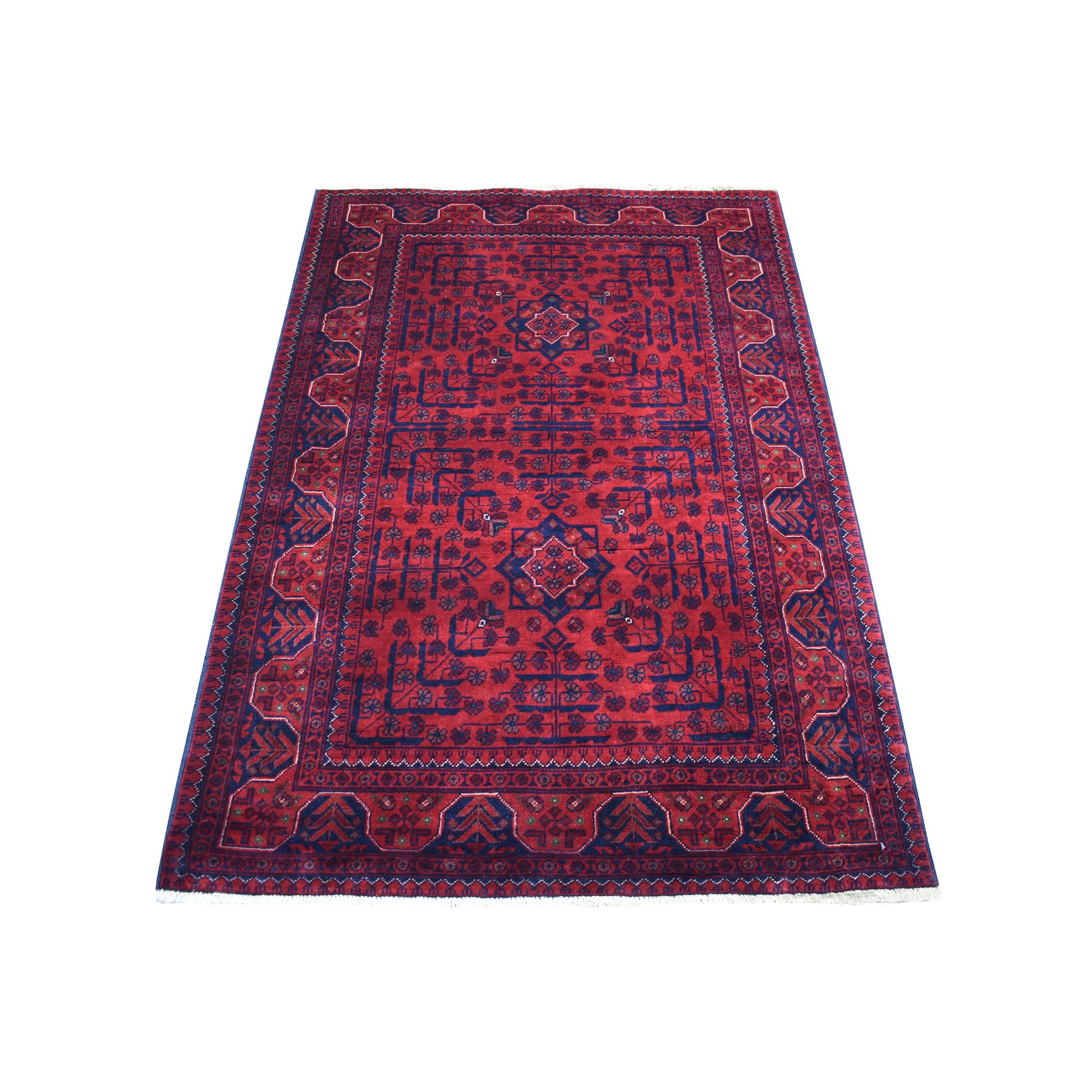 Nomadic And Village Collection Hand Knotted Red Rug No: 1136190