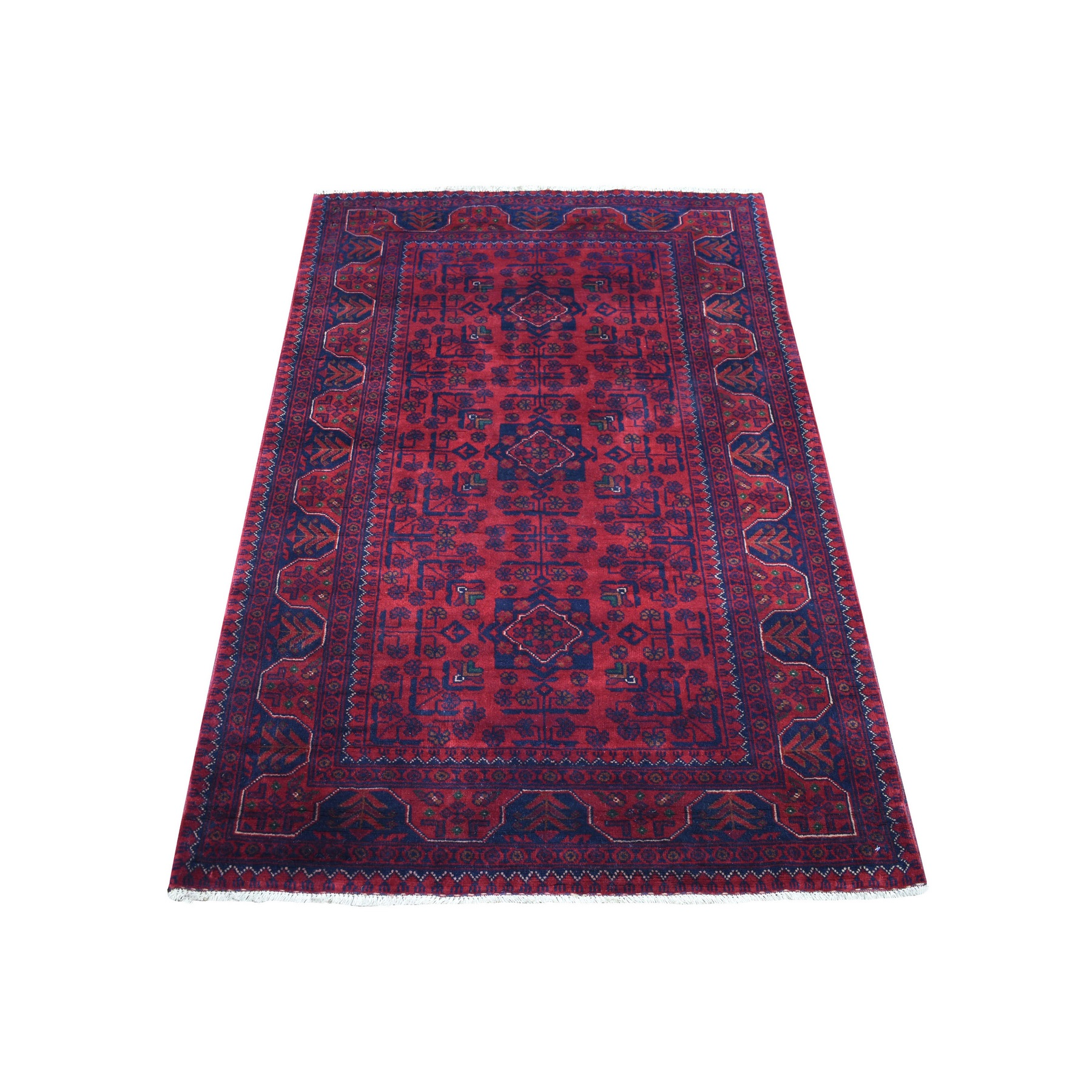 Nomadic And Village Collection Hand Knotted Red Rug No: 1136192