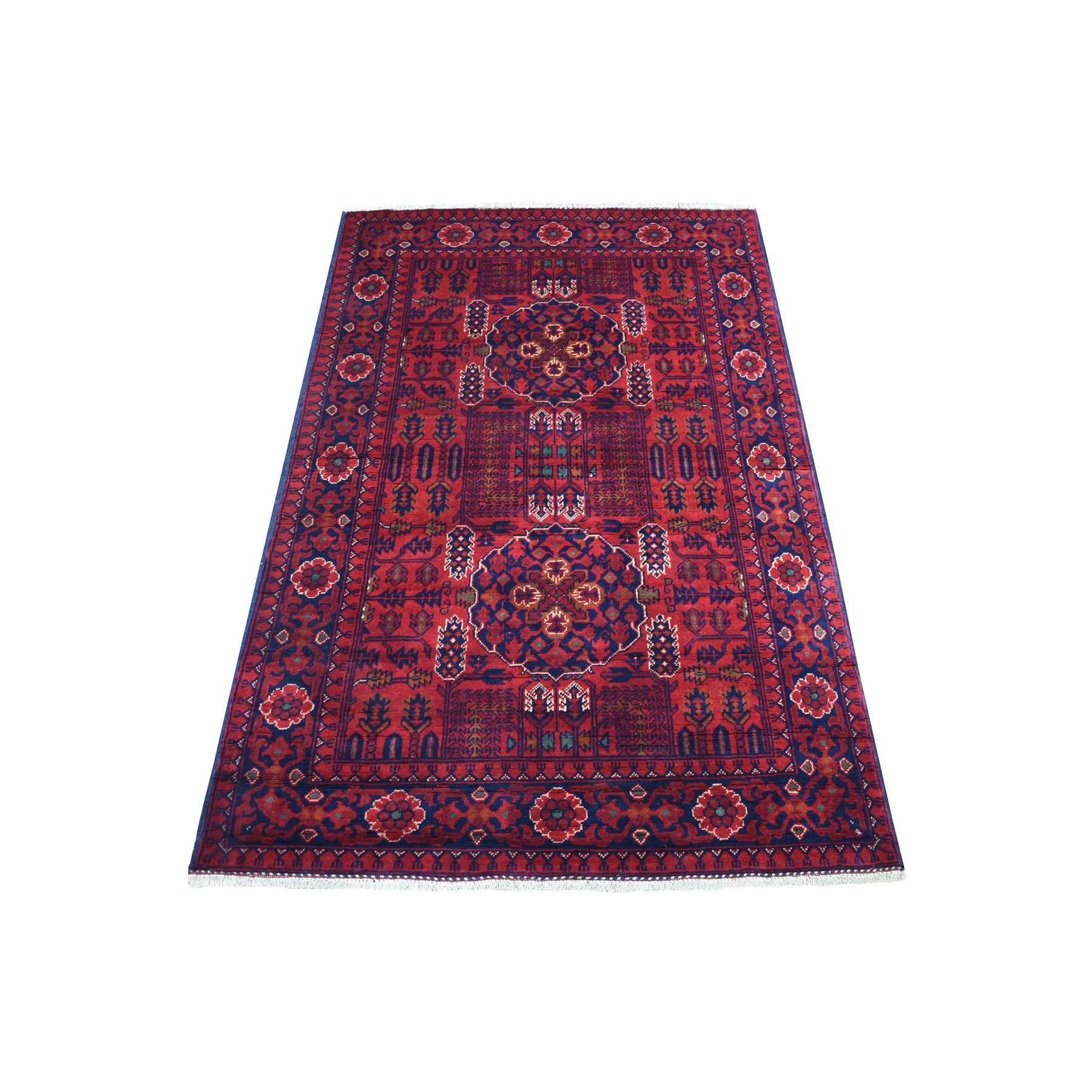 Nomadic And Village Collection Hand Knotted Red Rug No: 1136194