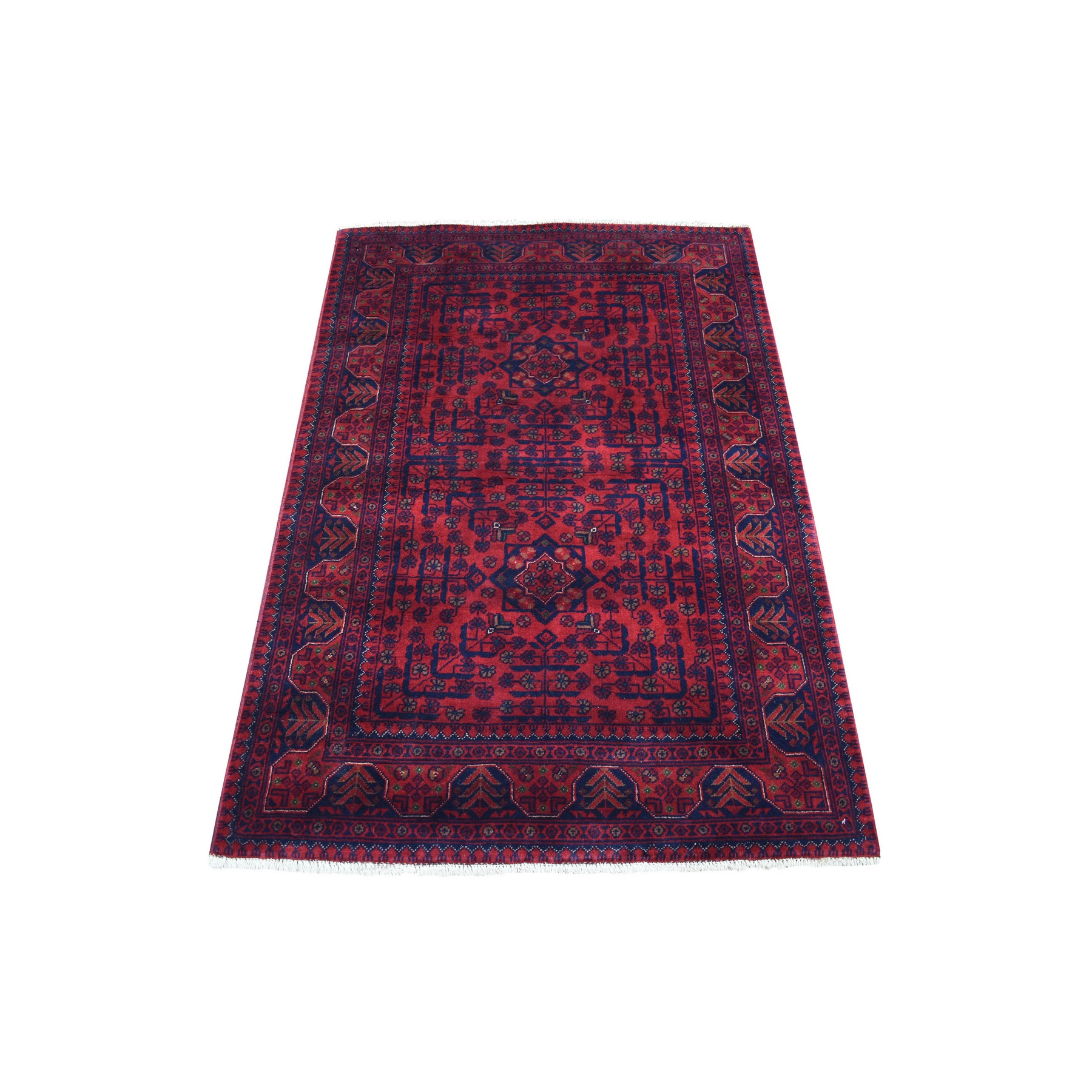 Nomadic And Village Collection Hand Knotted Red Rug No: 1136196