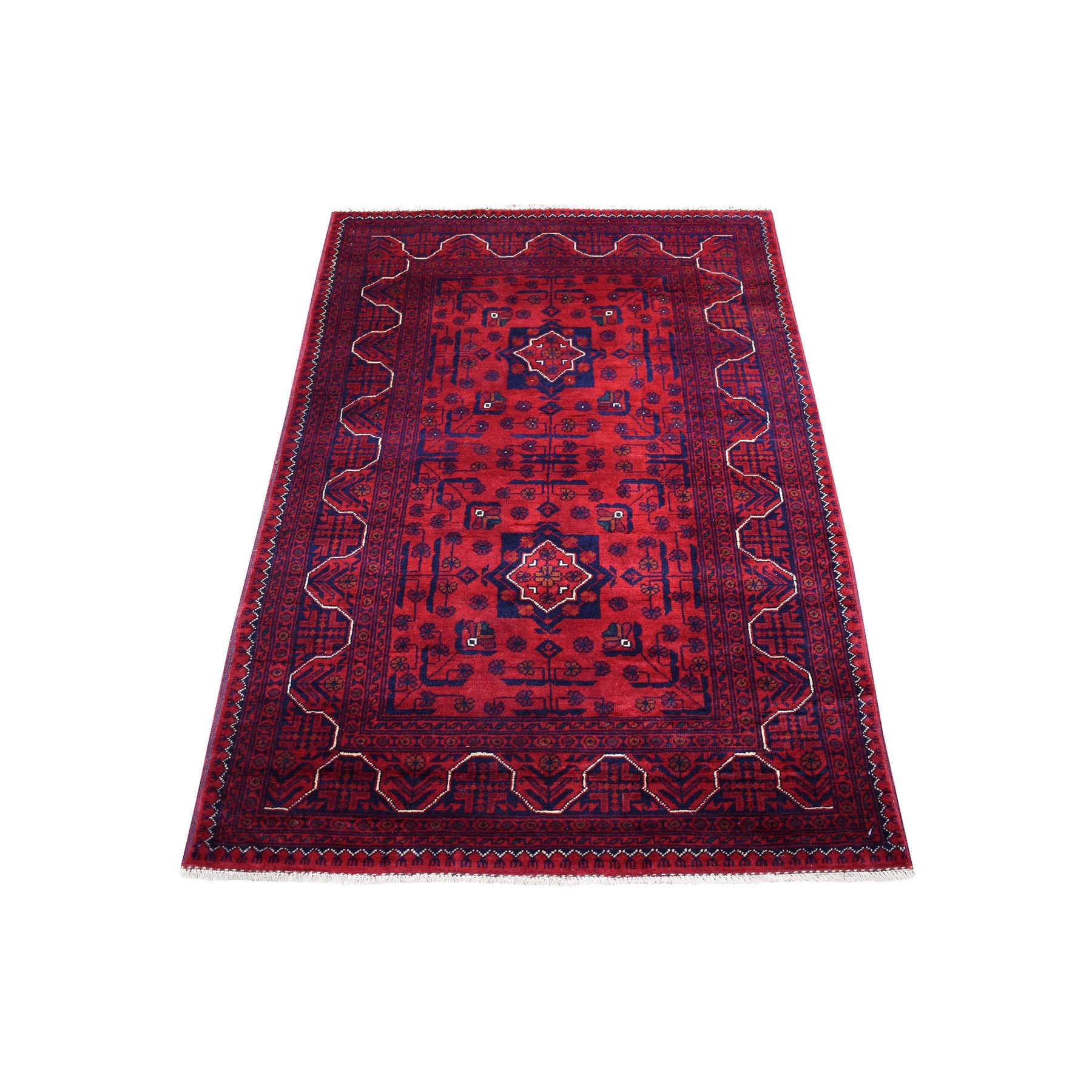 Nomadic And Village Collection Hand Knotted Red Rug No: 1136198