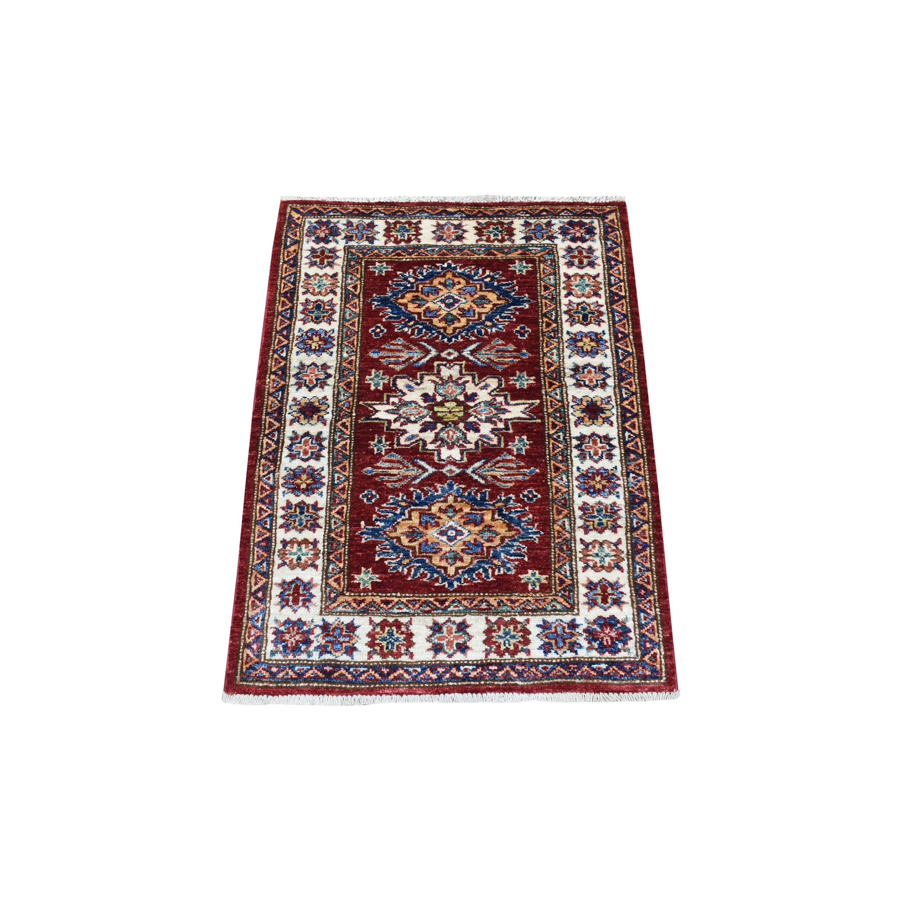 Caucasian Collection Hand Knotted Red Rug No: 1136250
