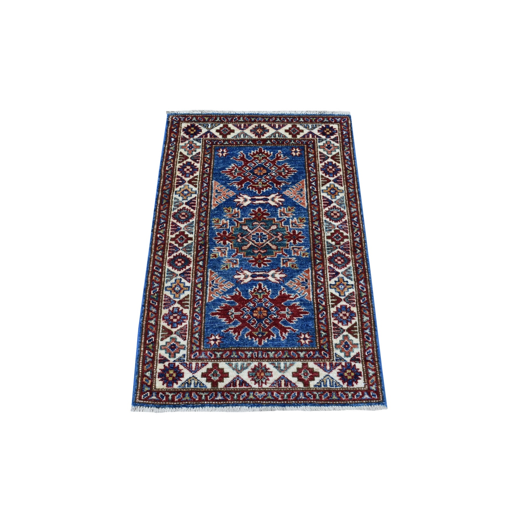 Caucasian Collection Hand Knotted Blue Rug No: 1136252