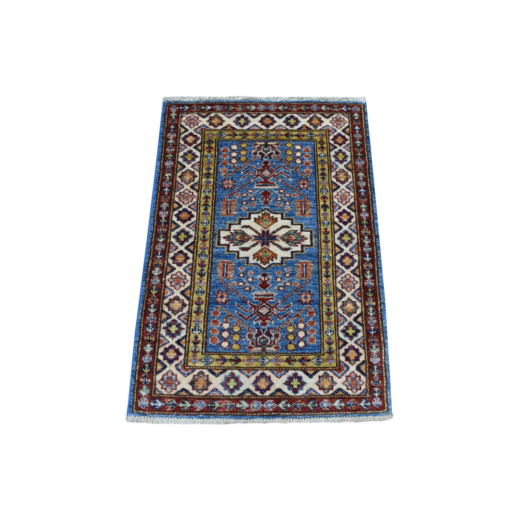 Caucasian Collection Hand Knotted Blue Rug No: 1136254