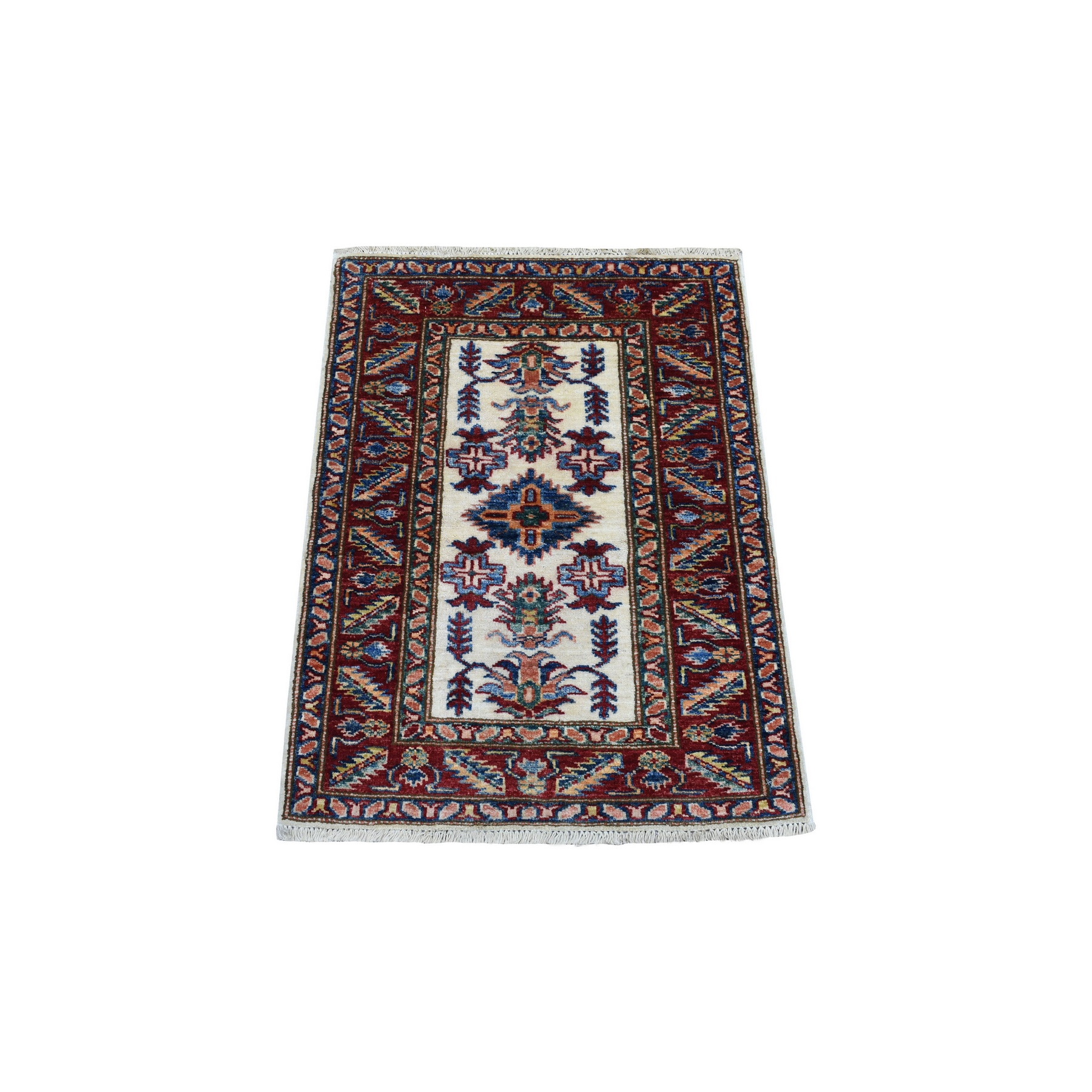 Caucasian Collection Hand Knotted Ivory Rug No: 1136256