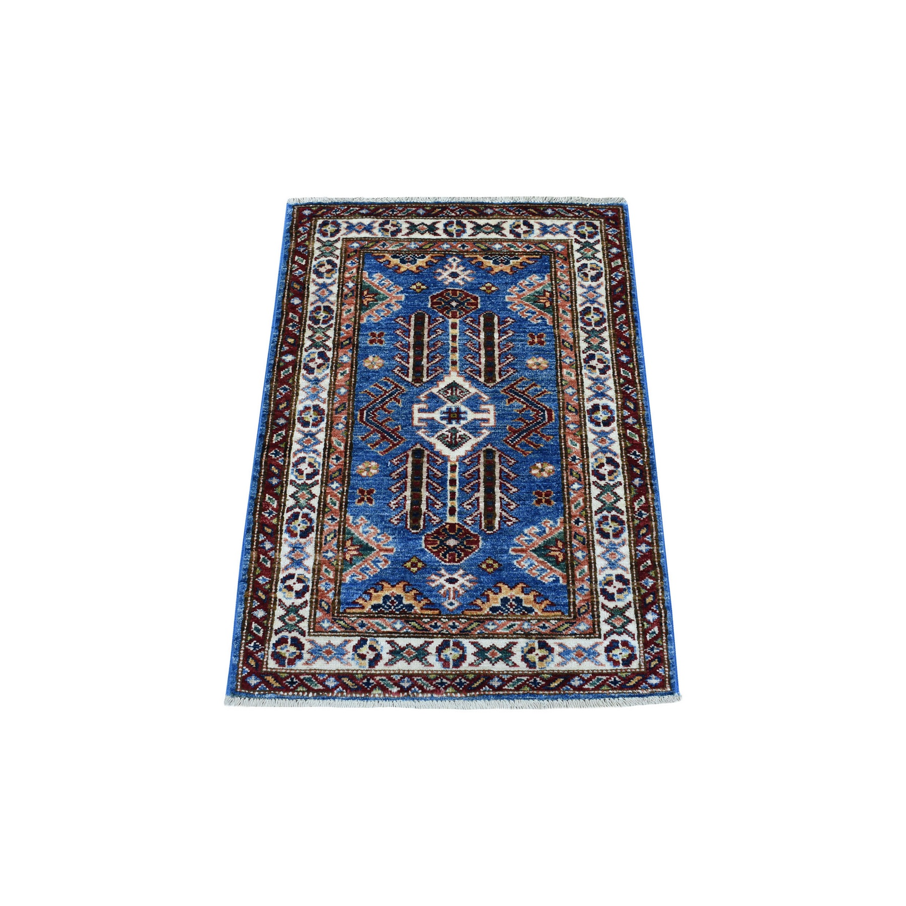 Caucasian Collection Hand Knotted Blue Rug No: 1136258