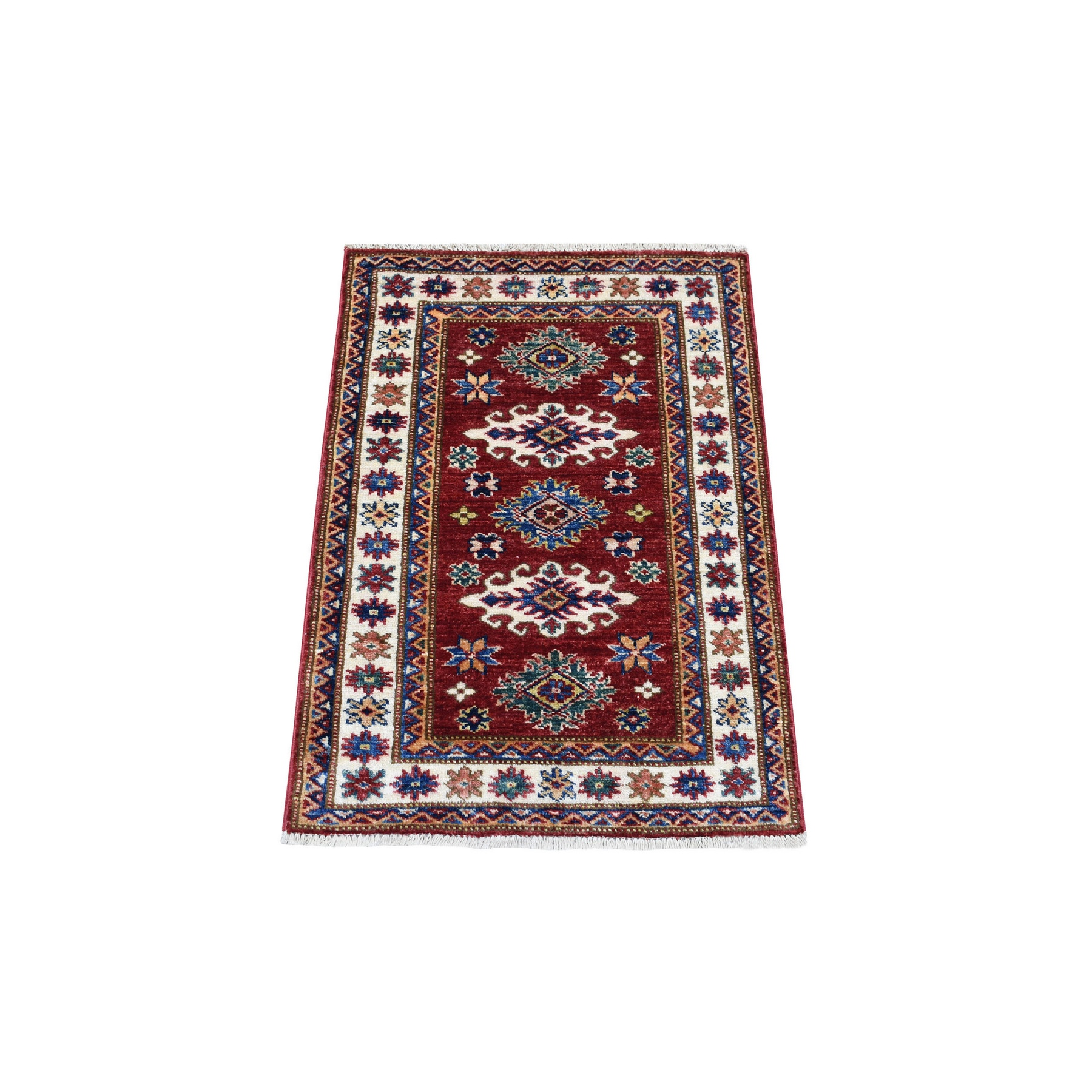 Caucasian Collection Hand Knotted Red Rug No: 1136260