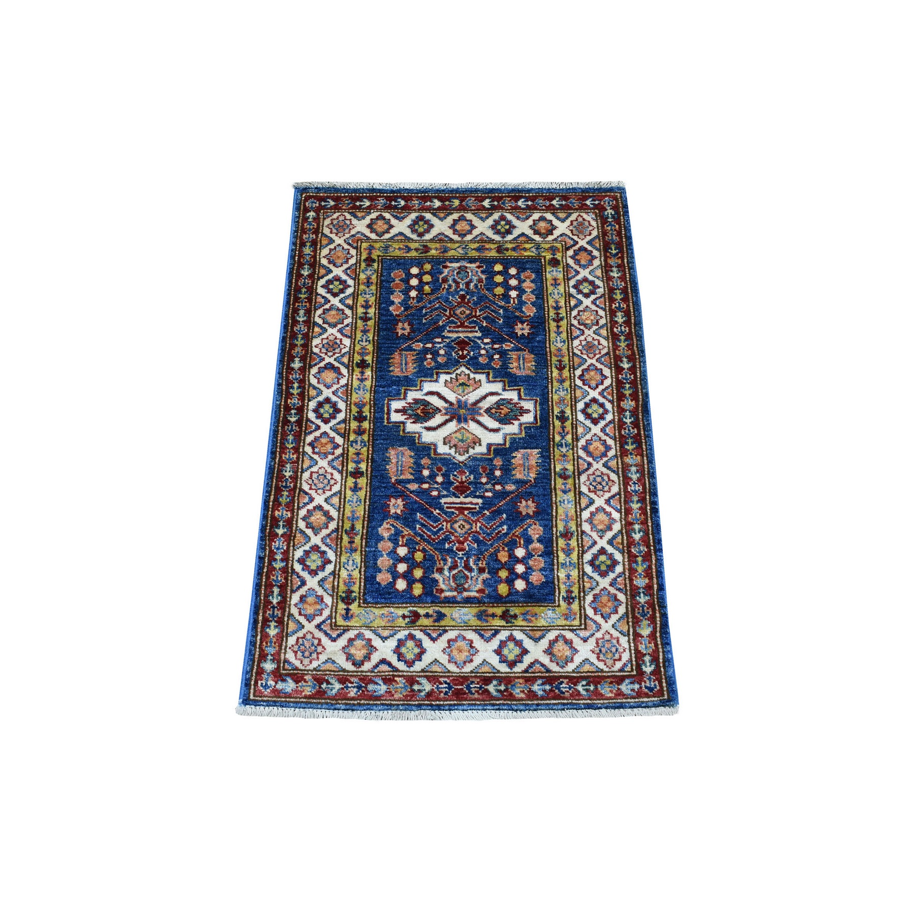 Caucasian Collection Hand Knotted Blue Rug No: 1136262
