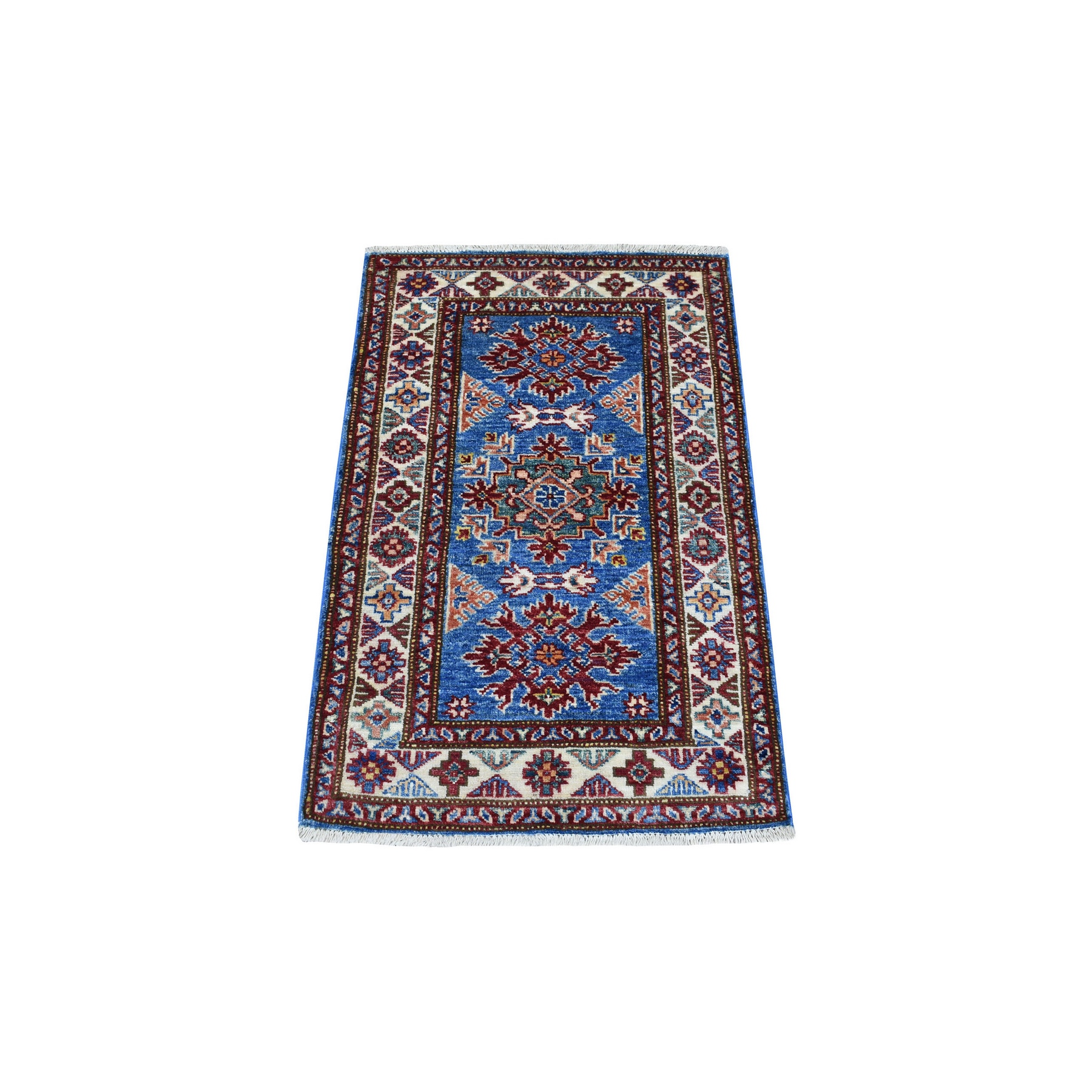 Caucasian Collection Hand Knotted Blue Rug No: 1136266