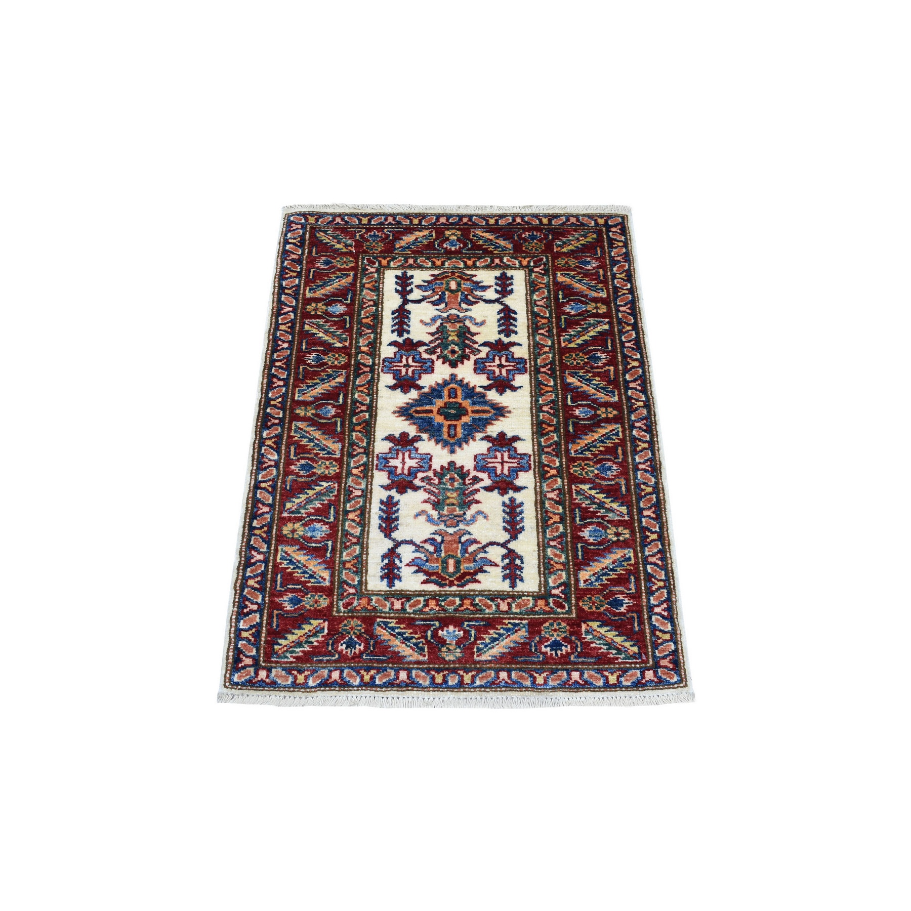 Caucasian Collection Hand Knotted Ivory Rug No: 1136272