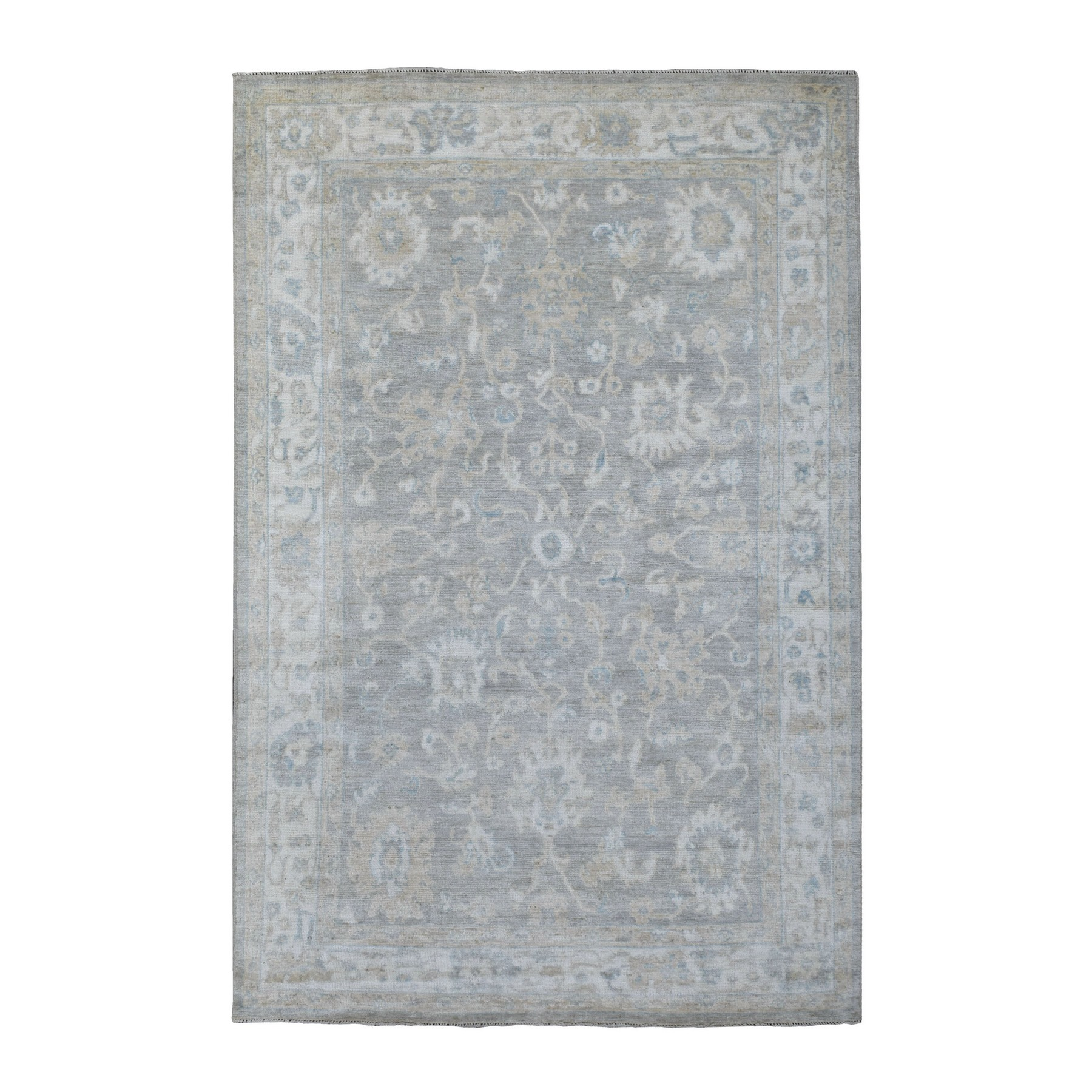Agra And Turkish Collection Hand Knotted Grey Rug No: 1136284